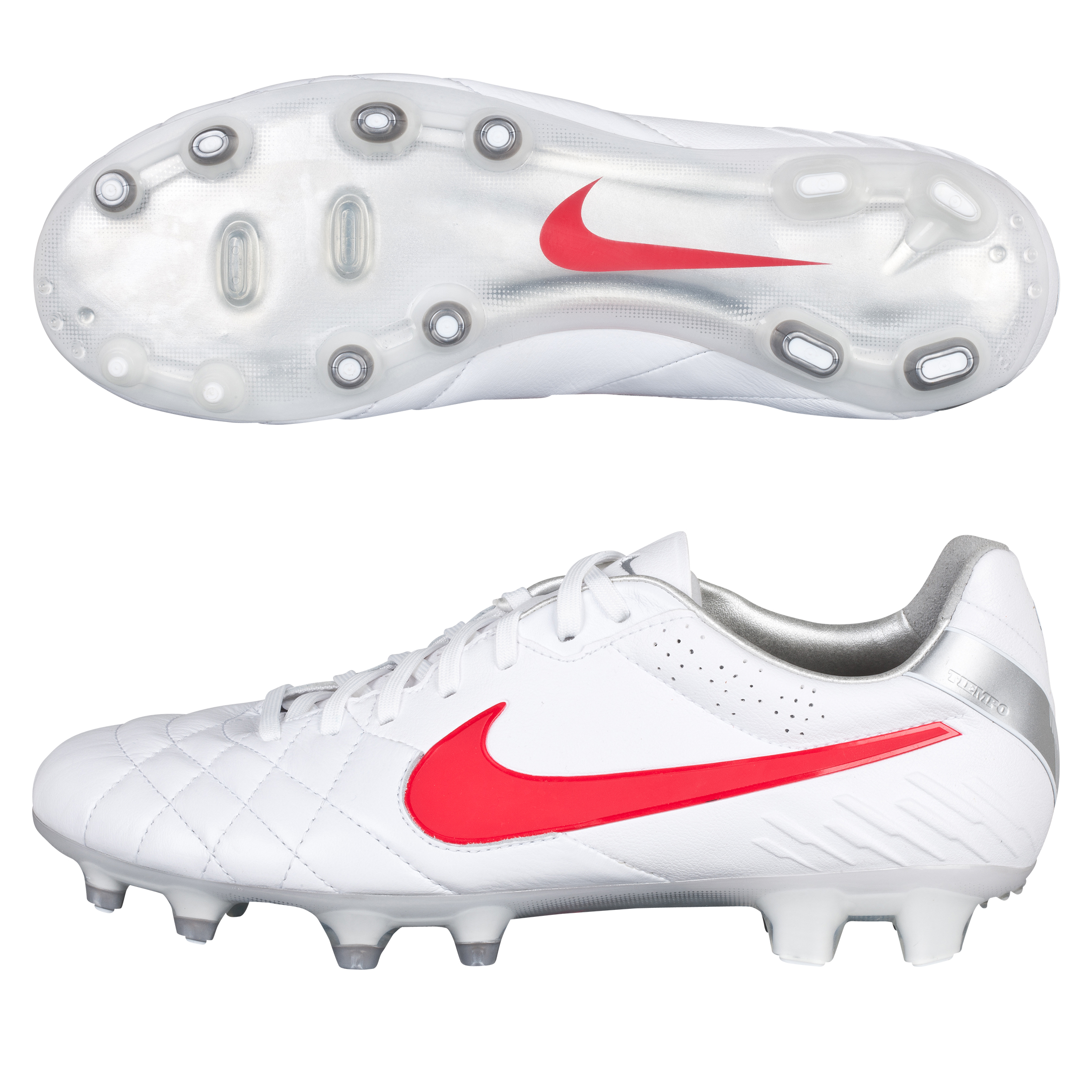 Tiempo Legend IV FG White/Siren Red/Metallic Silver