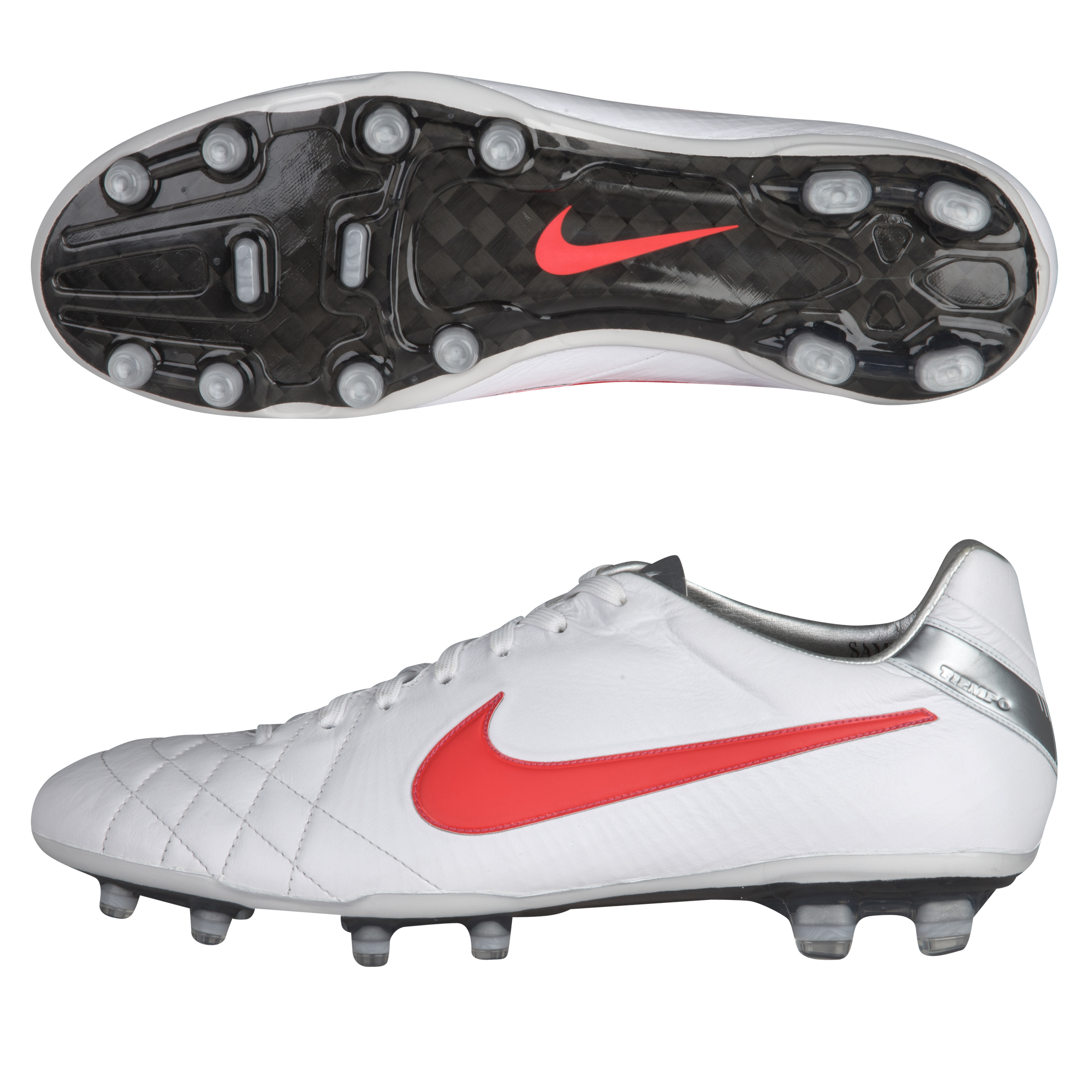 Tiempo Legend IV Elite FG White/Siren Red/Metallic Silver