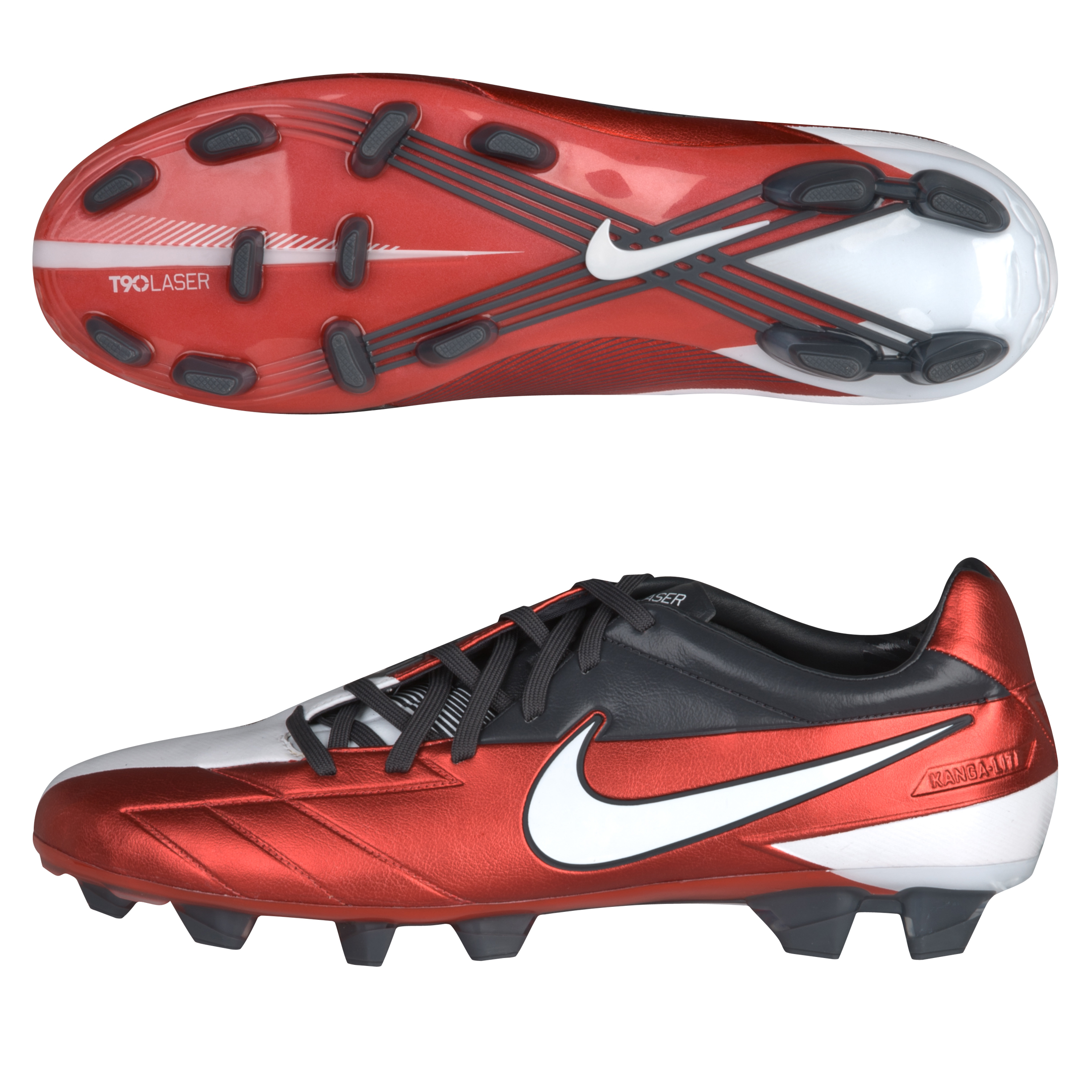 Nike T90 Laser IV KL-Firm Ground Challenge Red/White/Anthracite