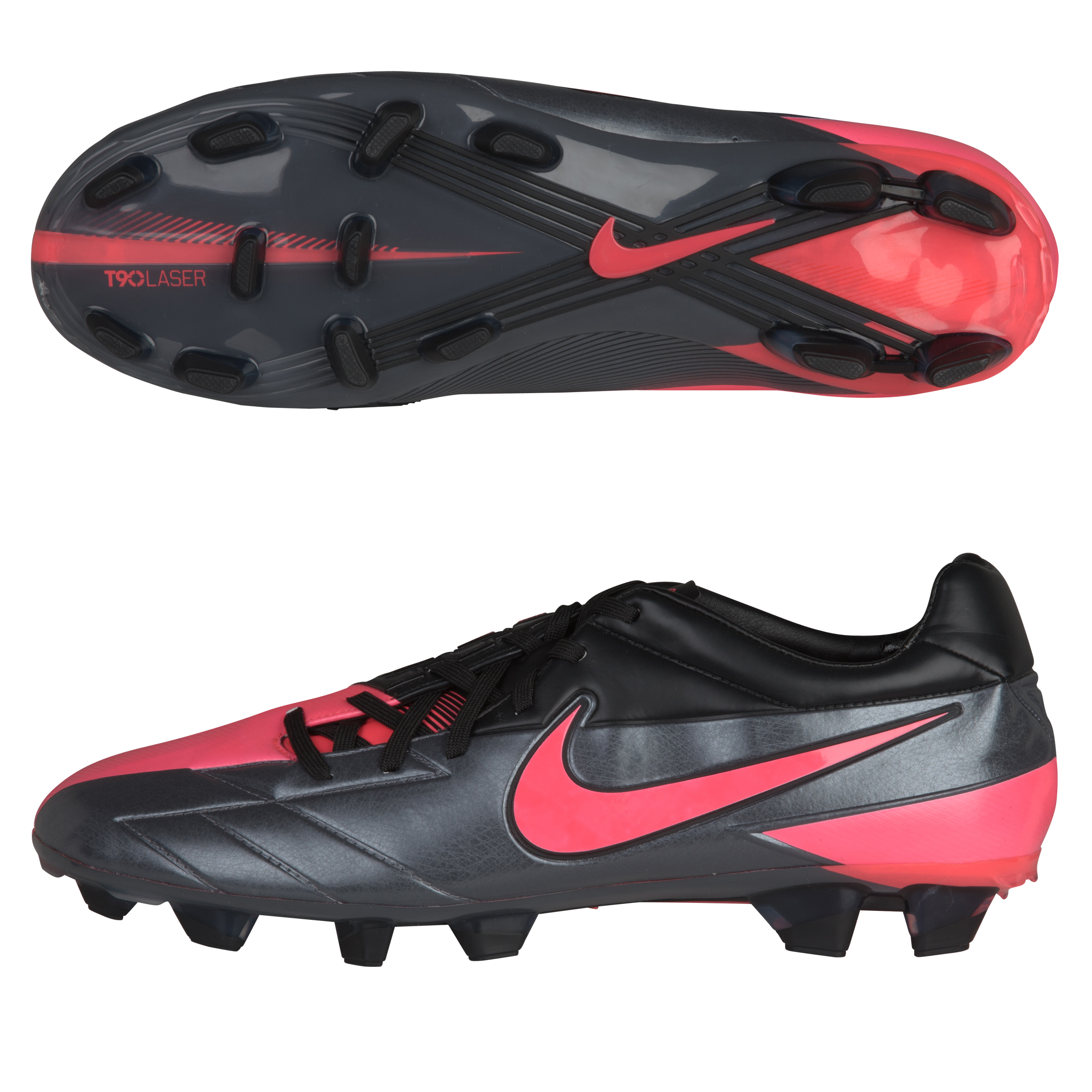 Nike T90 Laser IV Firm Ground Dark Grey/Solar Red/Black