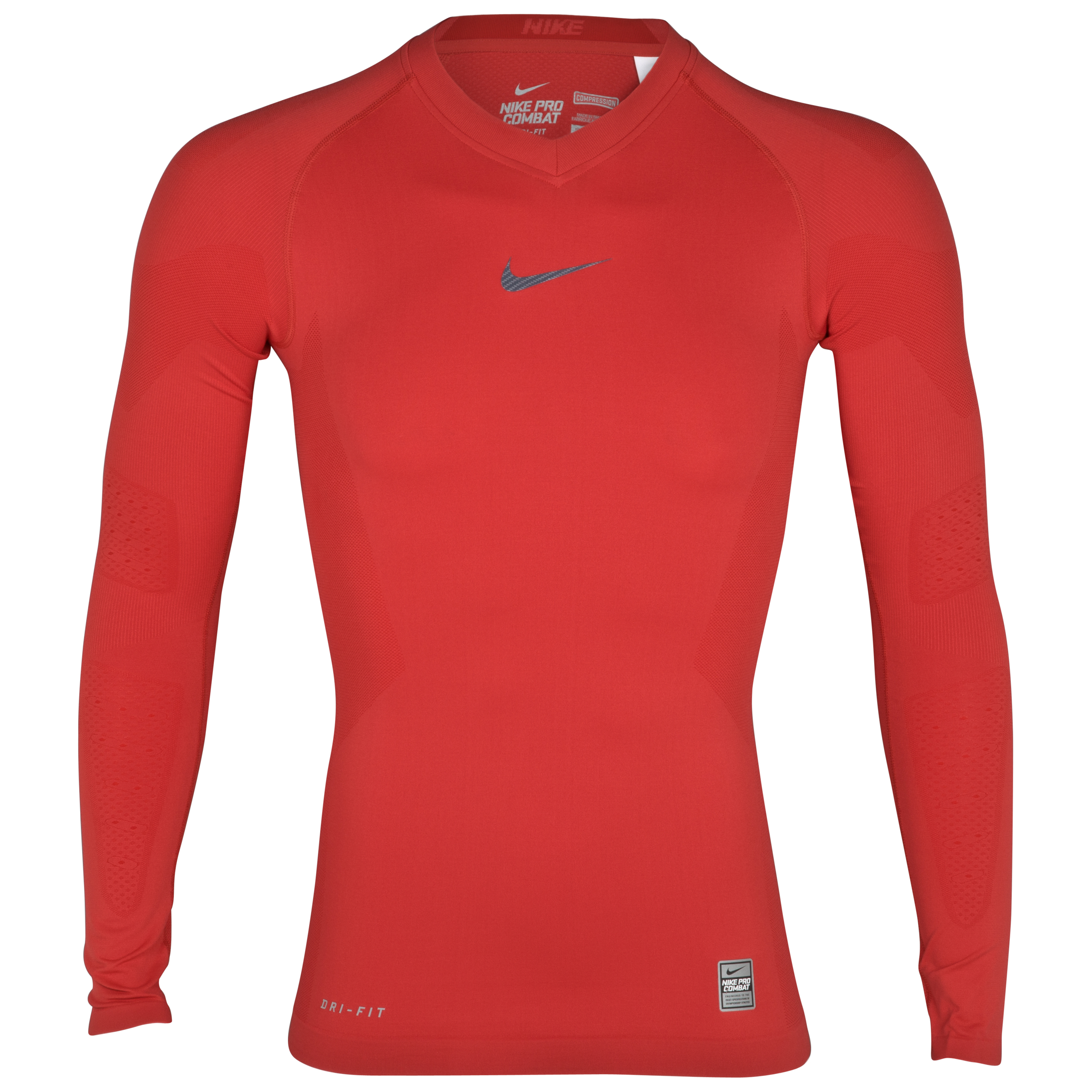 Nike Pro Combat Hypercool Vapor Top - Sport Red - Long Sleeve