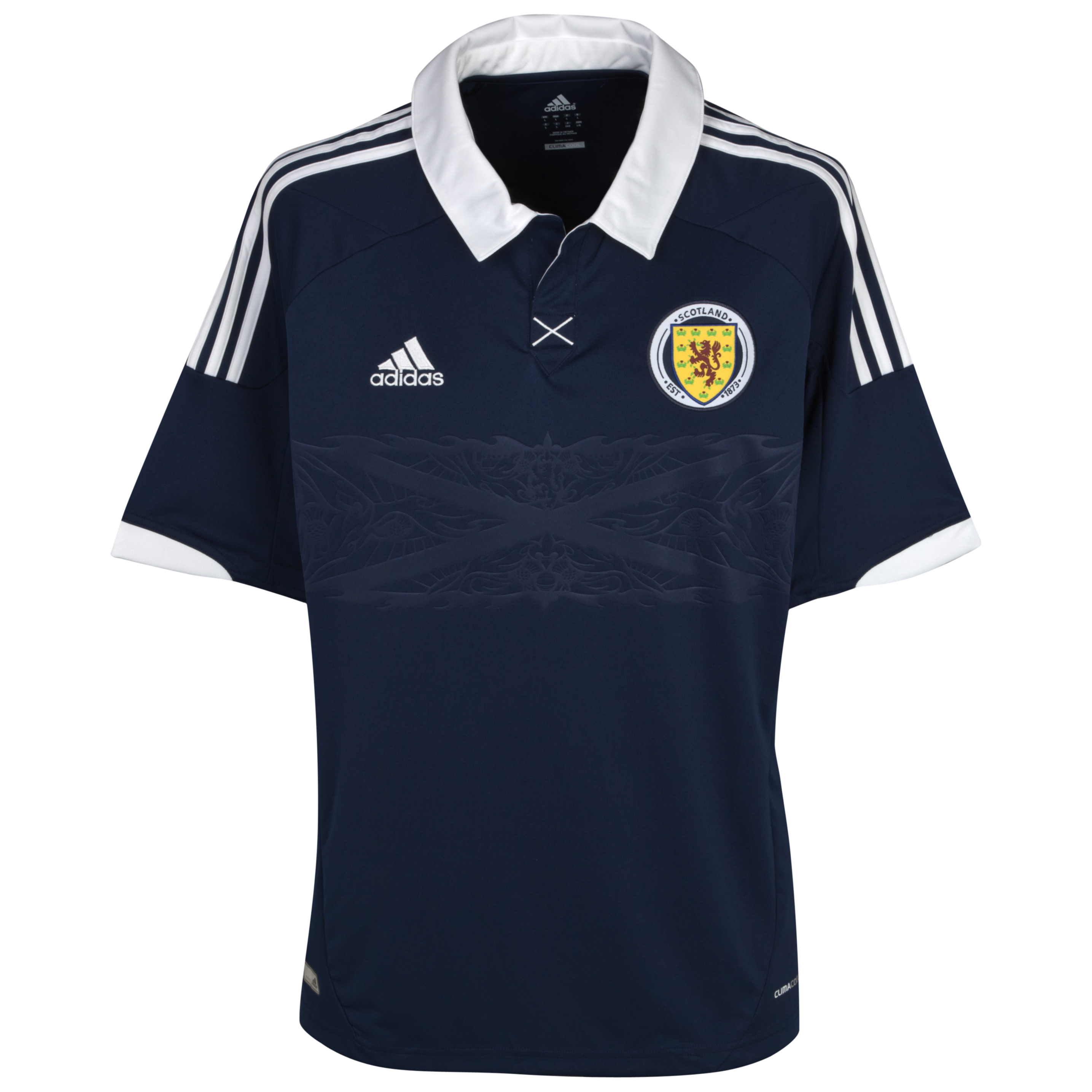 Scotland Home Shirt 2012/14 Dark Indigo/White