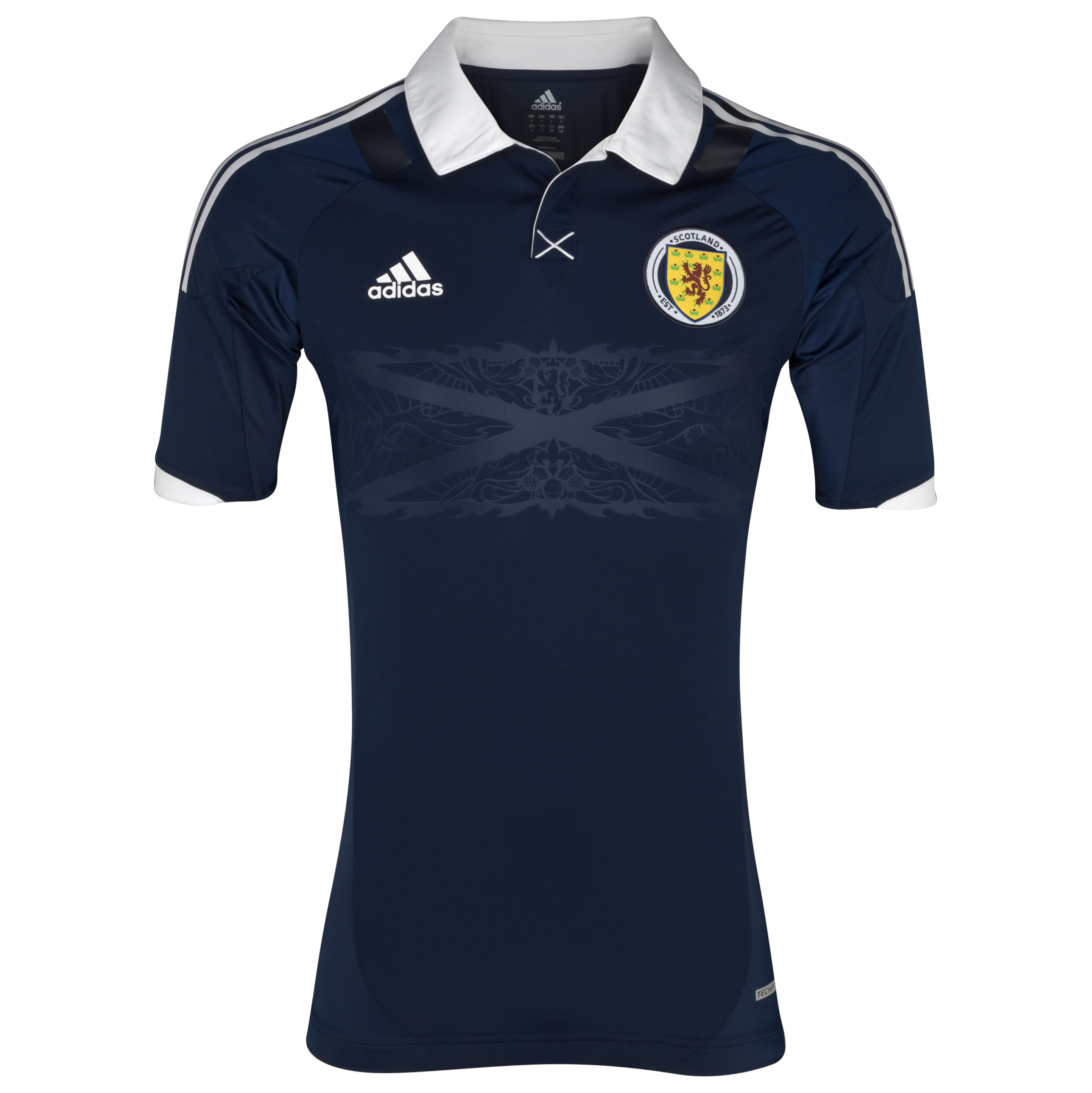 Scotland Authentic Home Shirt 2012/14 - Dark Indigo/White
