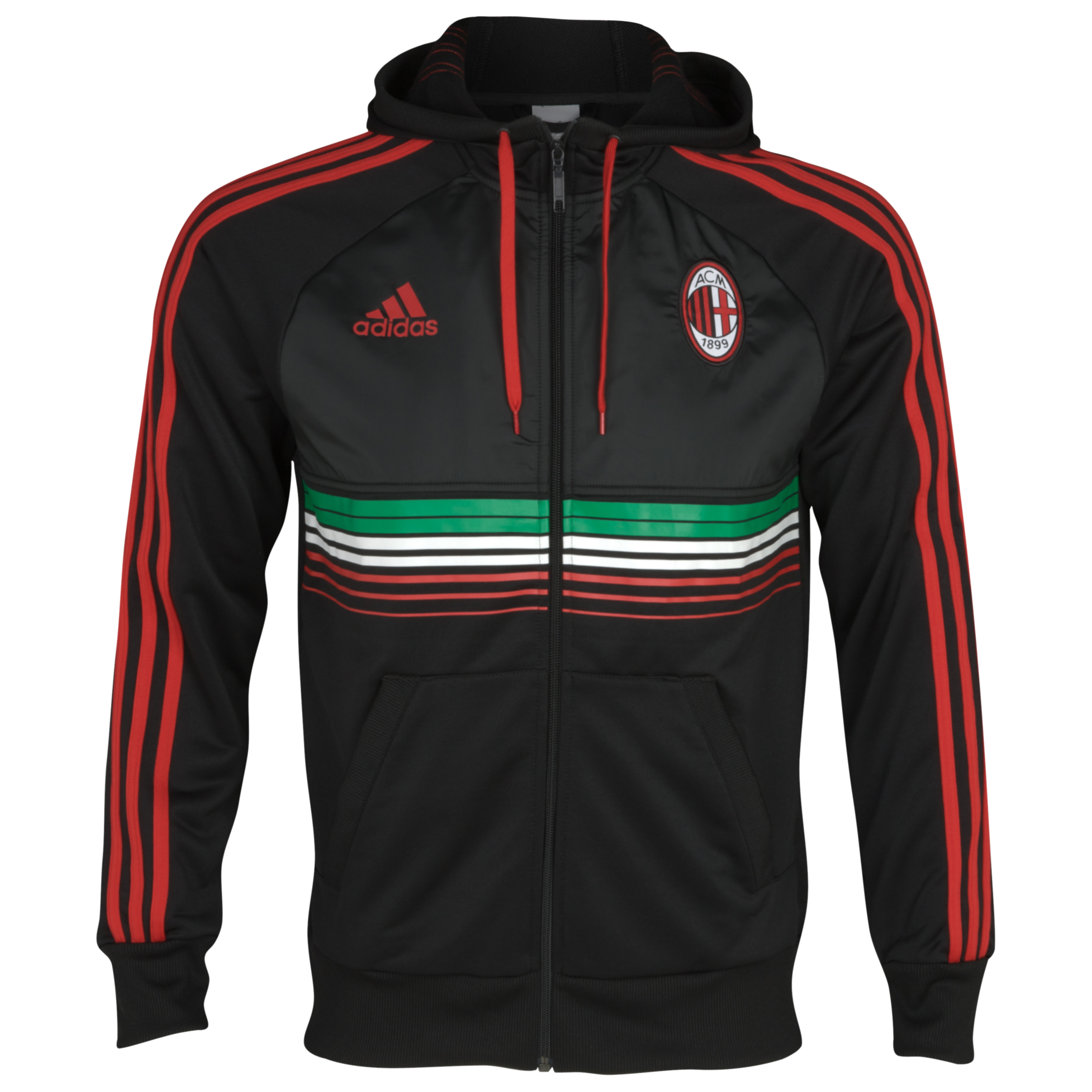 AC Milan Anthem Jacket - Acm Black/Acm Red 98