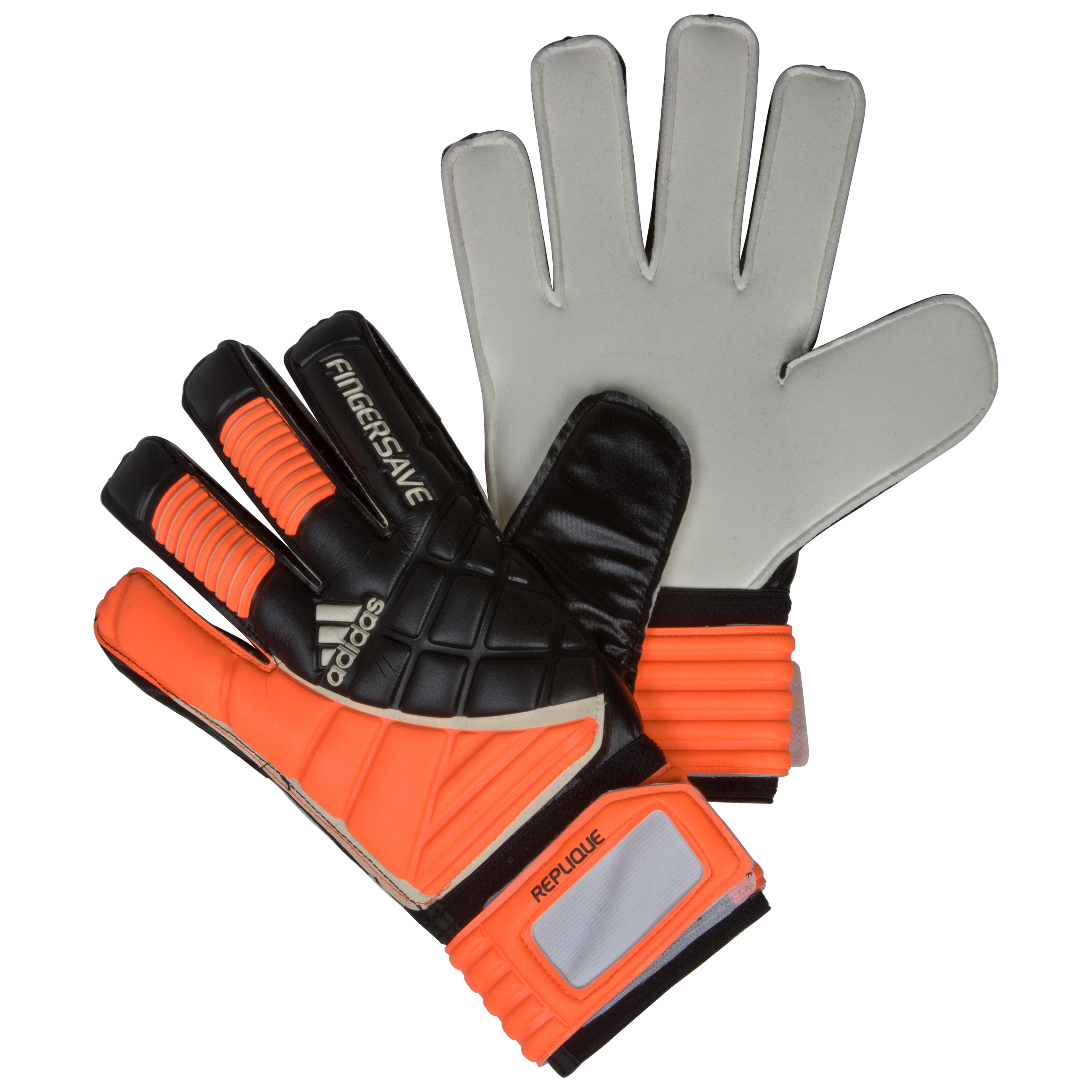 Adidas Finger Save Replique Goalkeeper Gloves - Black/Warning/White