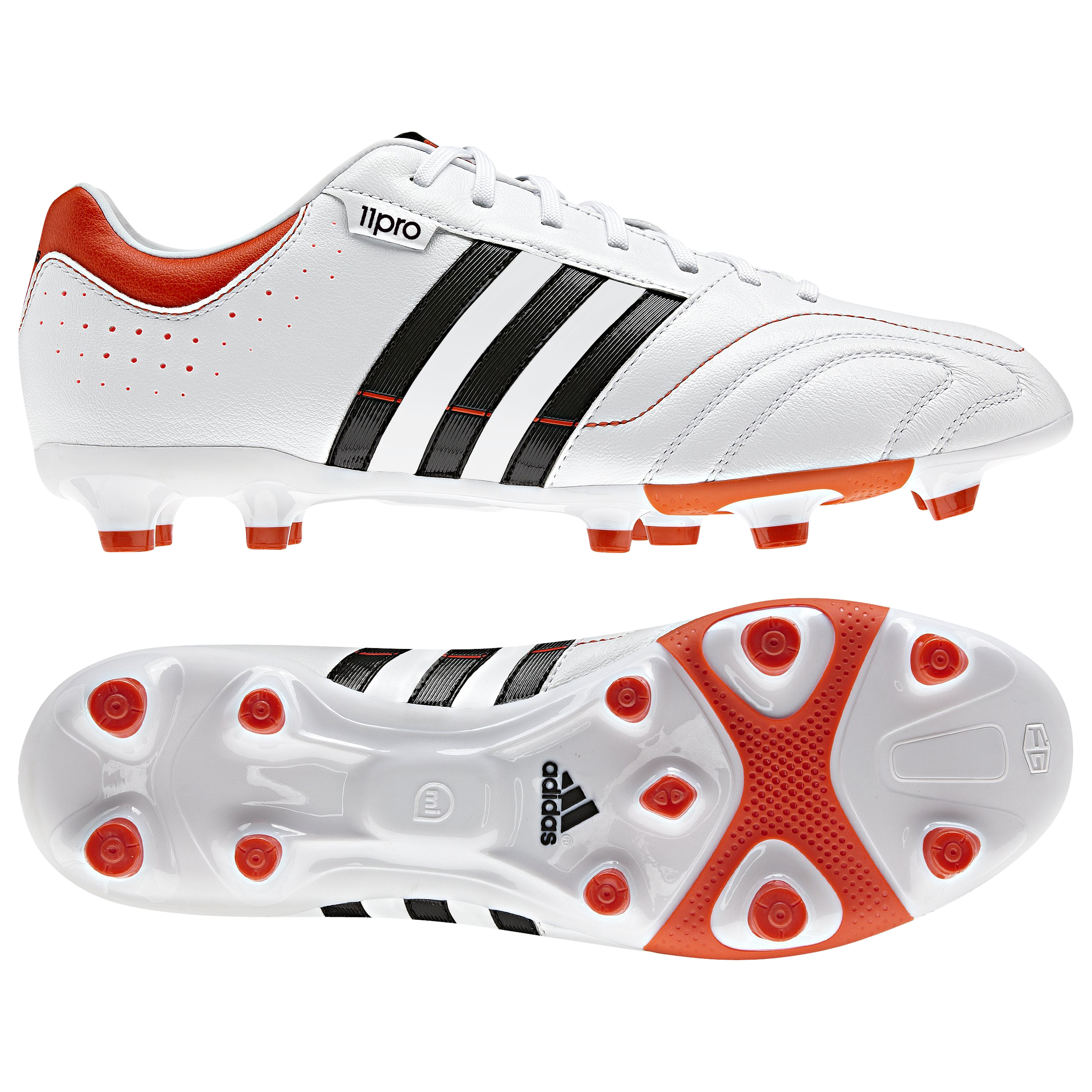 adidas 11Nova TRX Firm Ground Football Boots - Running White/Black 1/High Energy S12
