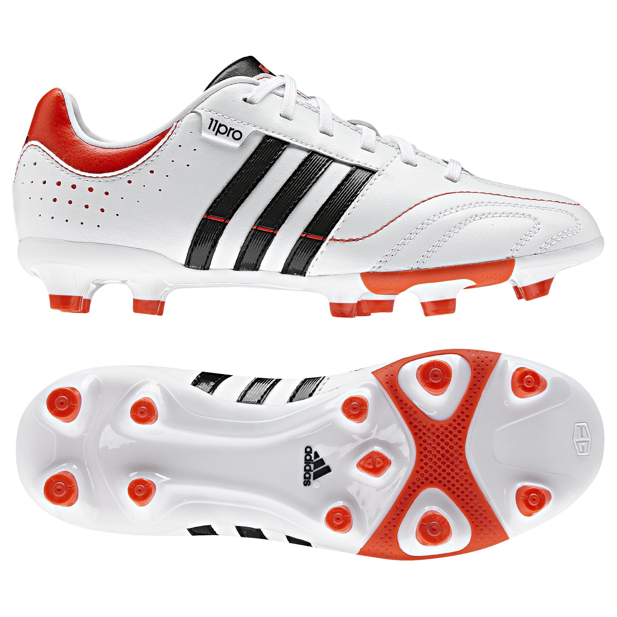 adidas 11Nova TRX Firm Ground Football Boots - Running White/Black/High Energy S12 - Kids