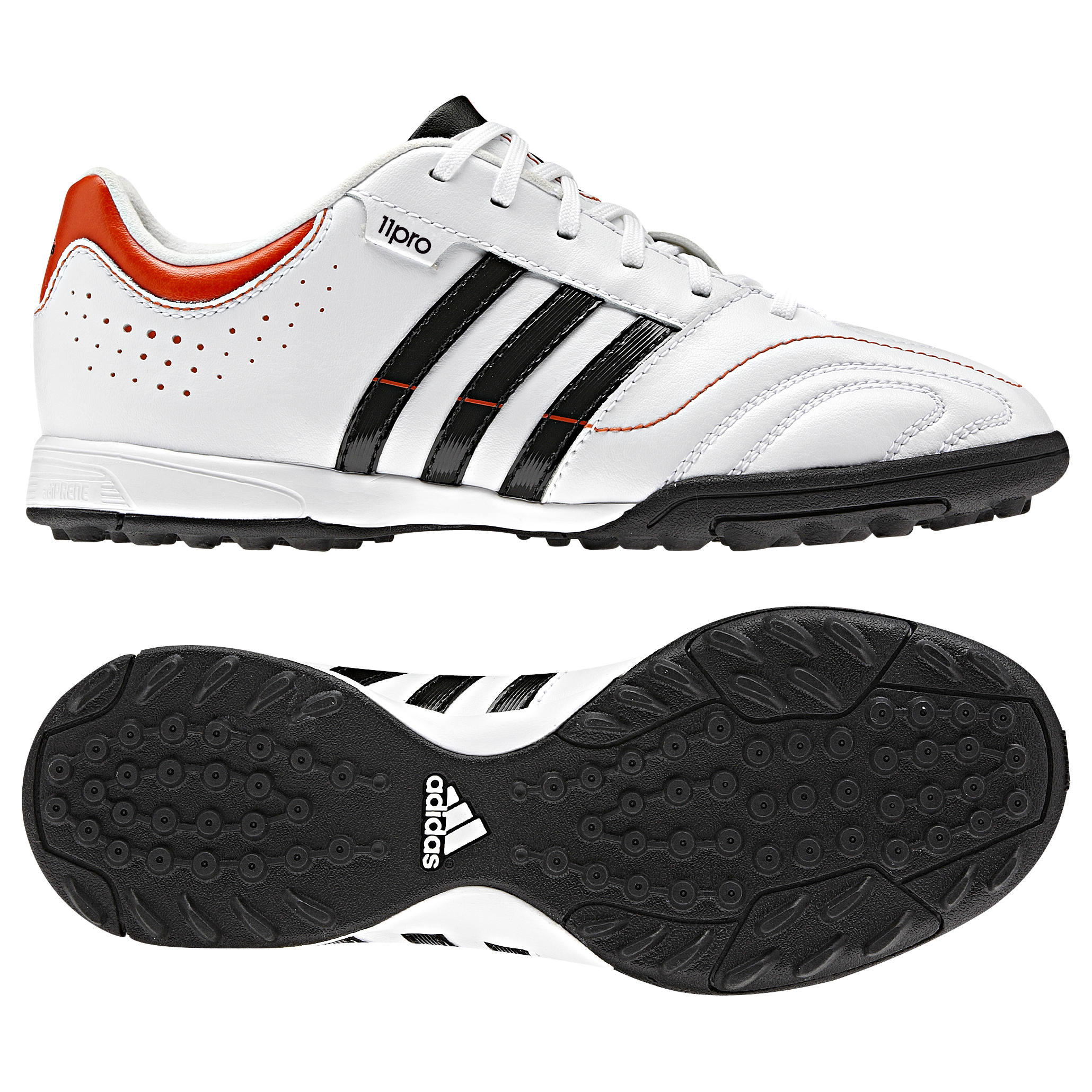 adidas 11Nova TRX Astro Turf Trainers - Kids - Running White/Black 1/High Energy S12