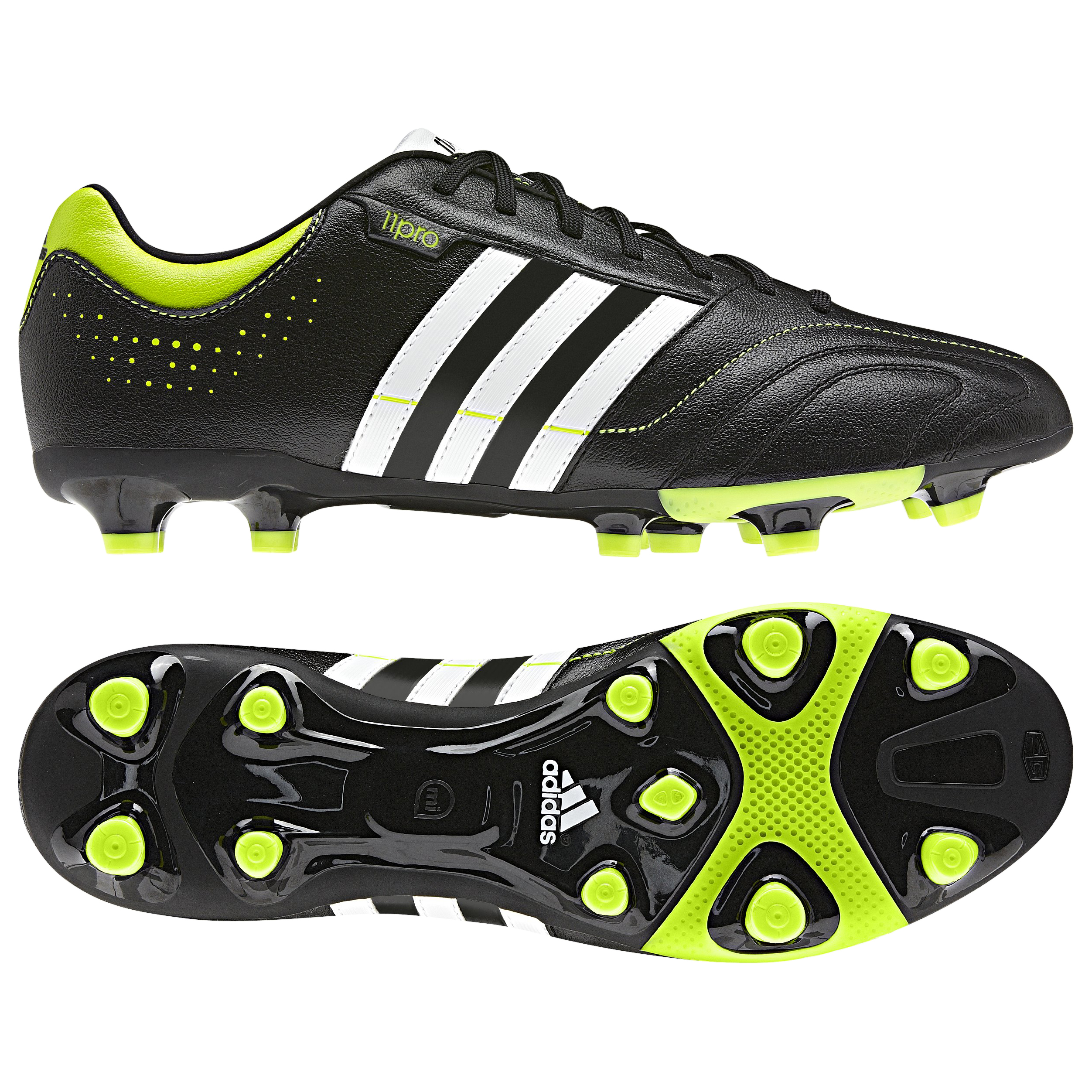 adidas 11Nova TRX Firm Ground Football Boots - Black 1/Running White/Slime