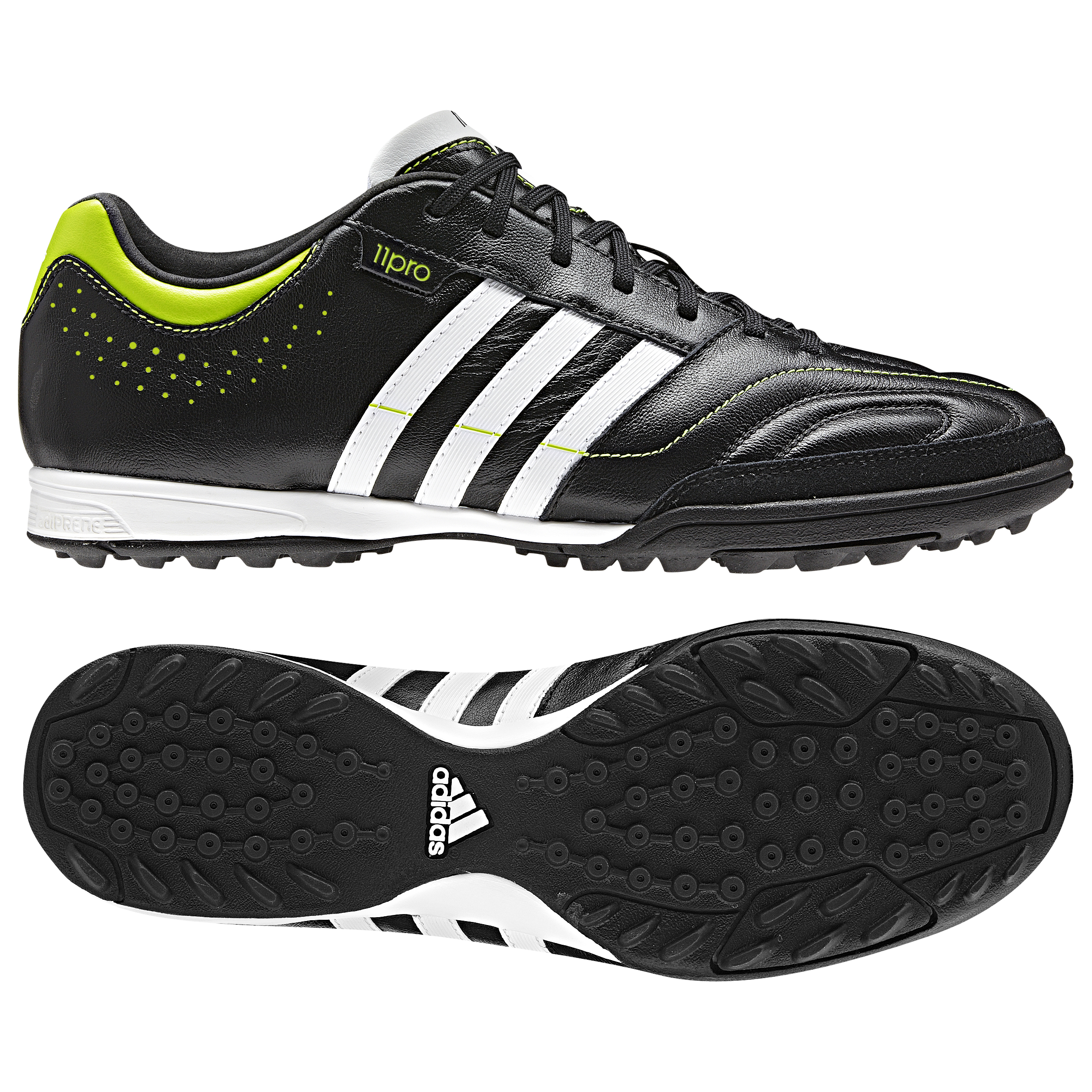 detailed pictures df1b1 cd67b adidas 11Nova TRX Astro Turf Trainers - Black 1 Running White Slime. for