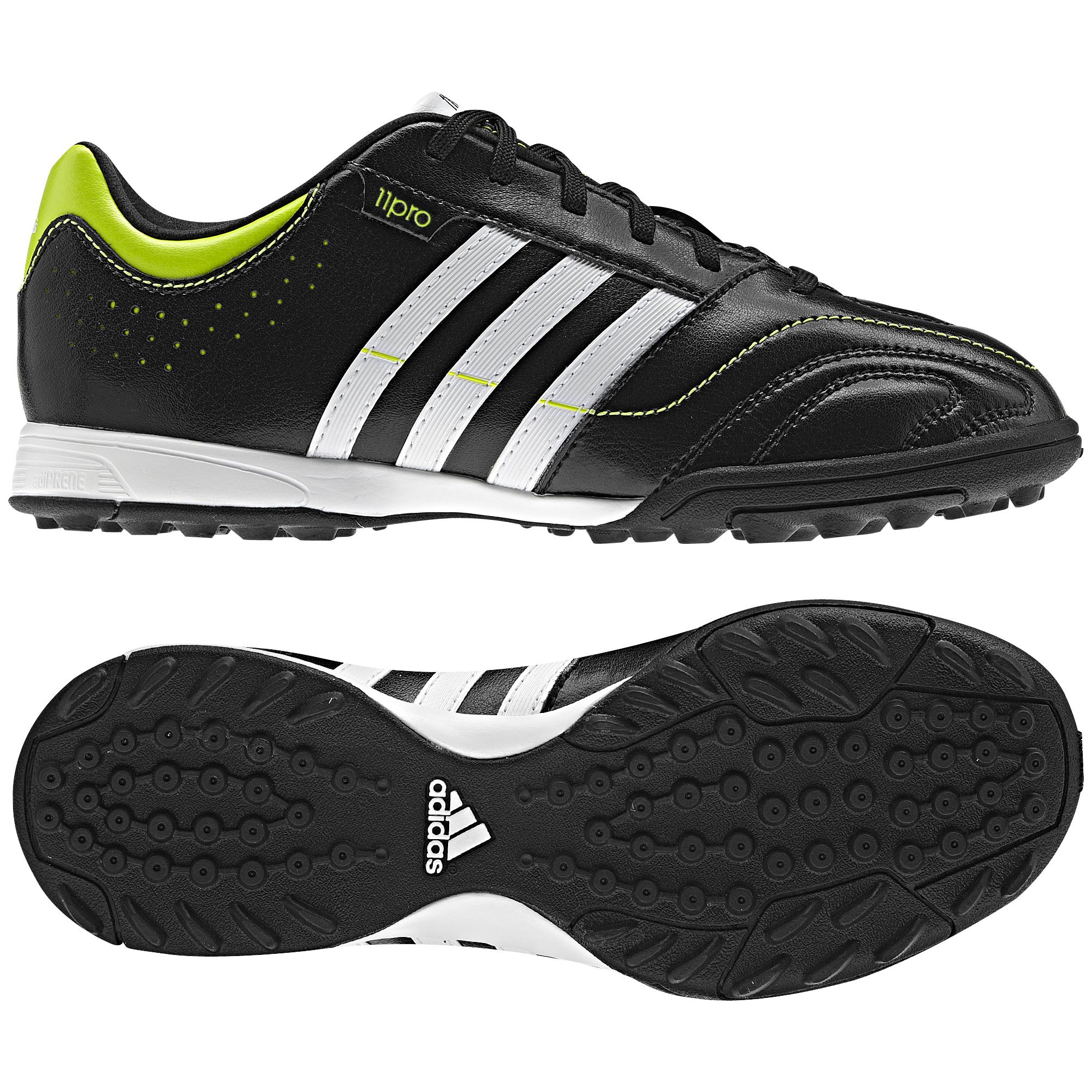 more photos e87ea df13e adidas 11Nova TRX Astro Turf Trainers - Kids - Black 1 Running White Slime