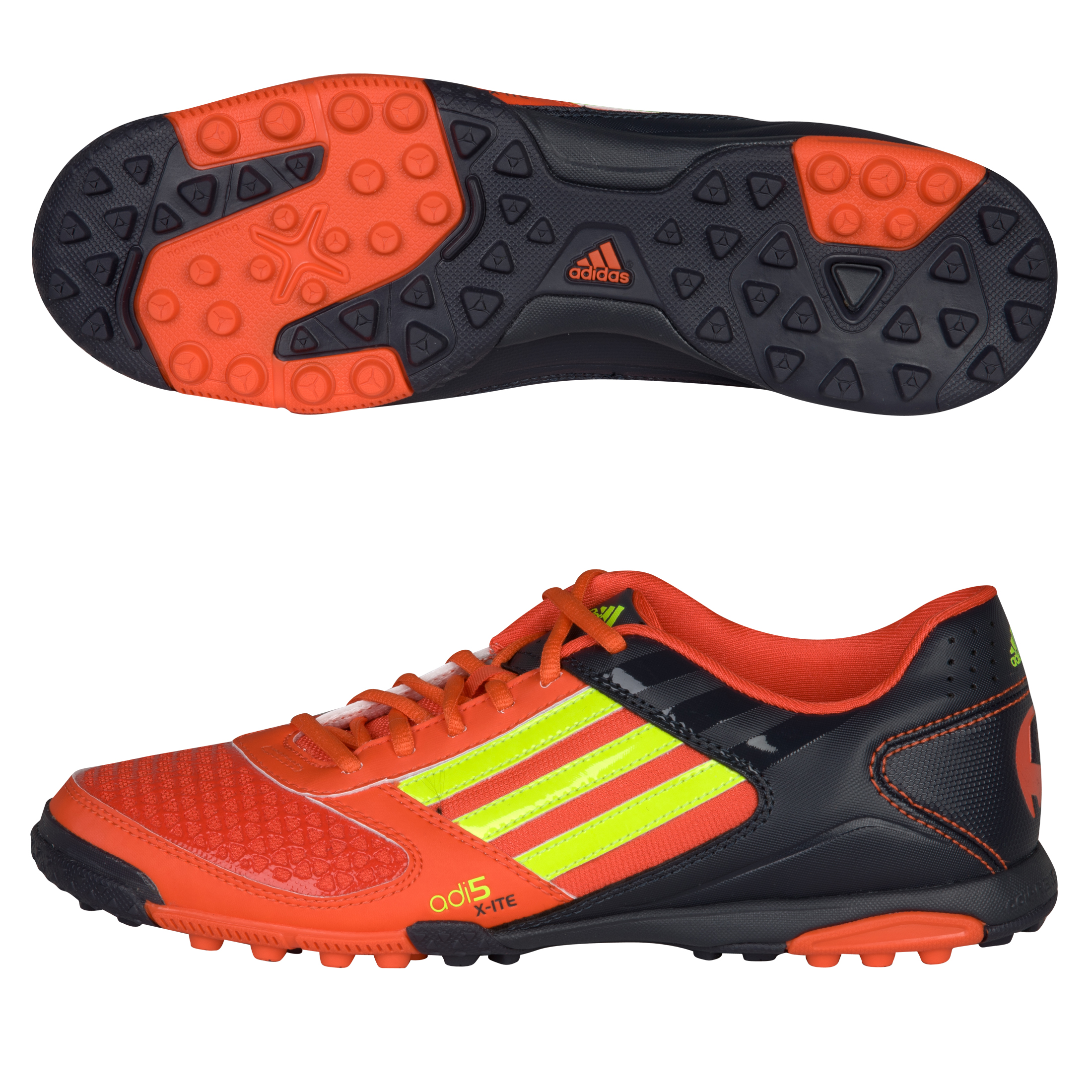 adidas adi5 X-ite Astro Turf Trainers - High Energy S12 / Electricity / Phantom