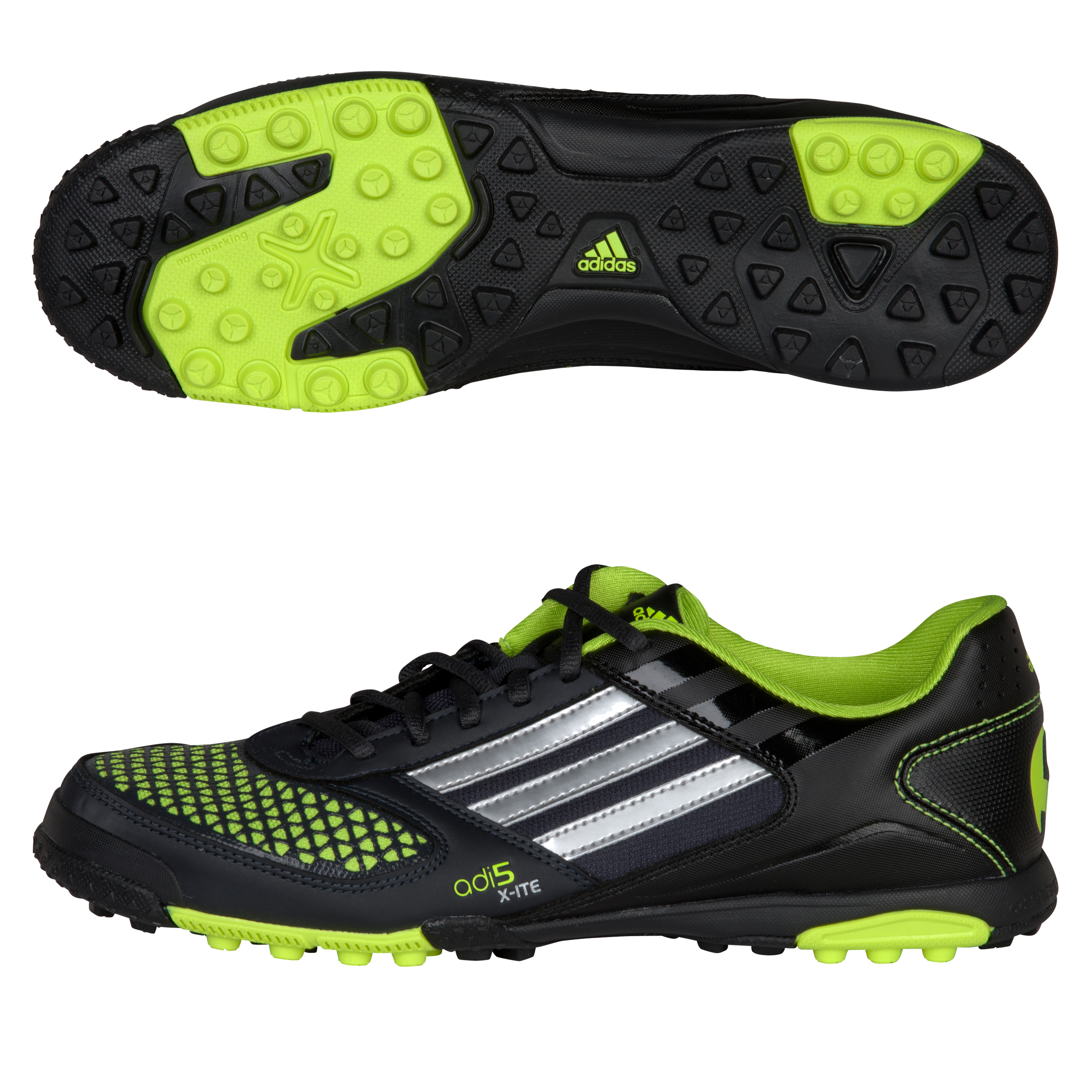 Adidas adi5 Touch Youth Turf Soccer Shoes (PhantomMetallic SilverSlime)