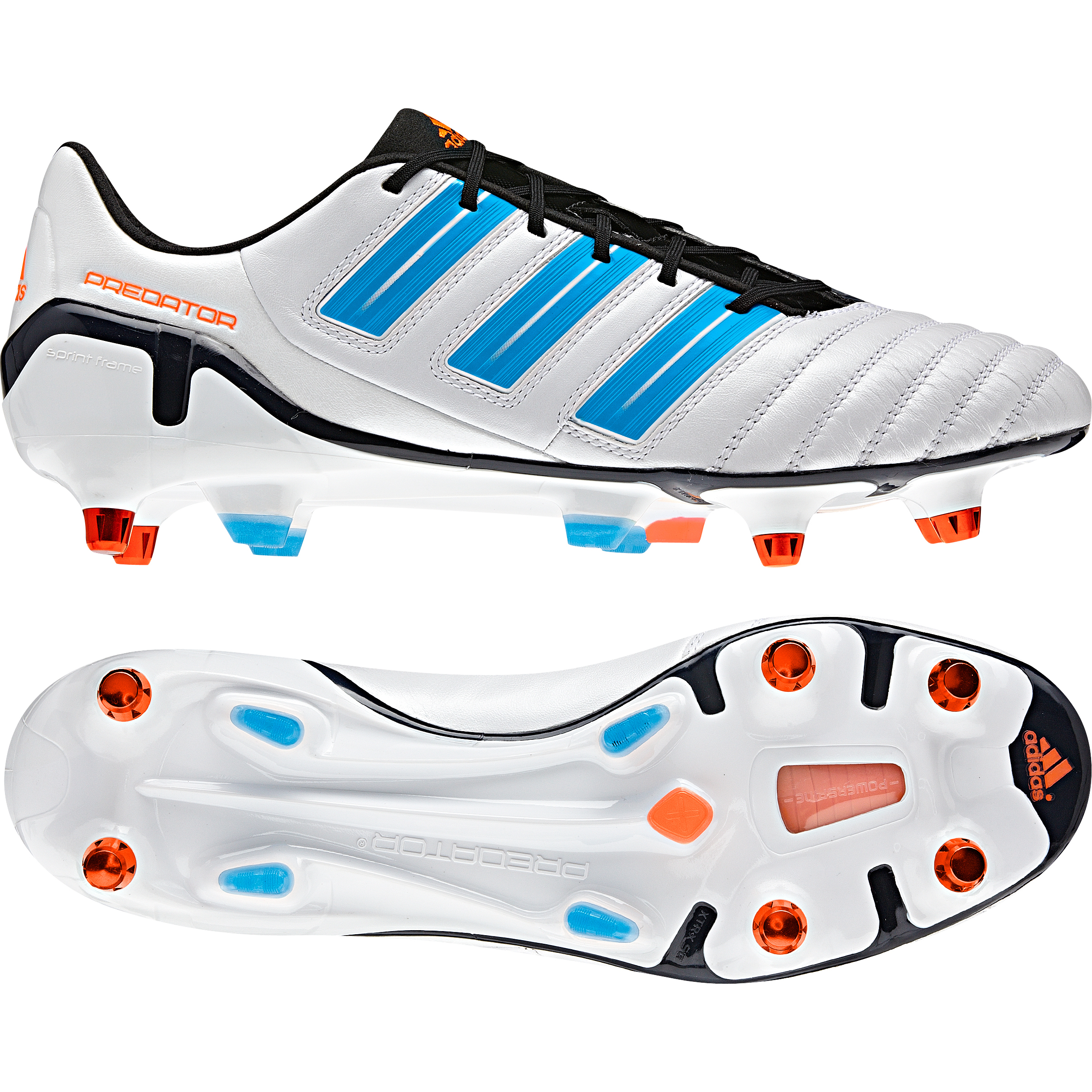 adidas adipower Predator X TRX Soft Ground Football Boots - Predator Run Wht Met. / Pred Sharp Blue Met. / Warning