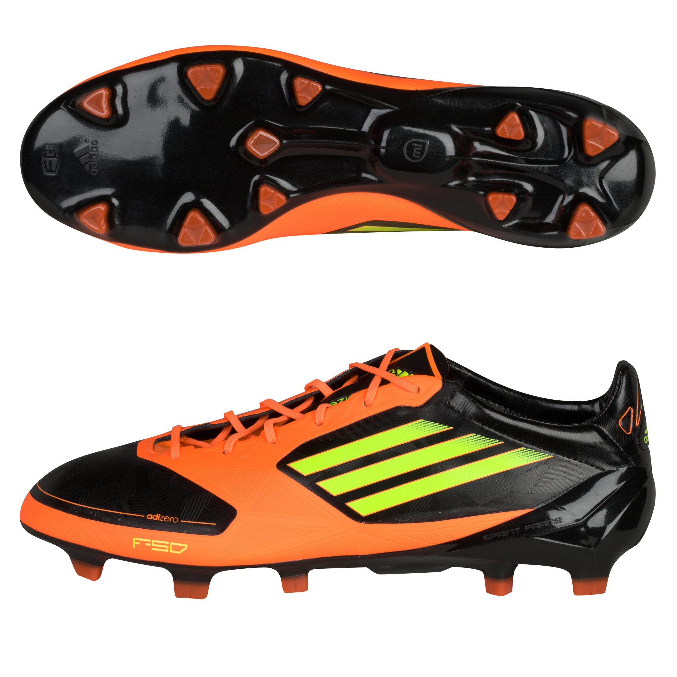 adidas F50 adizero TRX Firm Ground Synthetic Football Boots - Black 1/Electricity/Warning