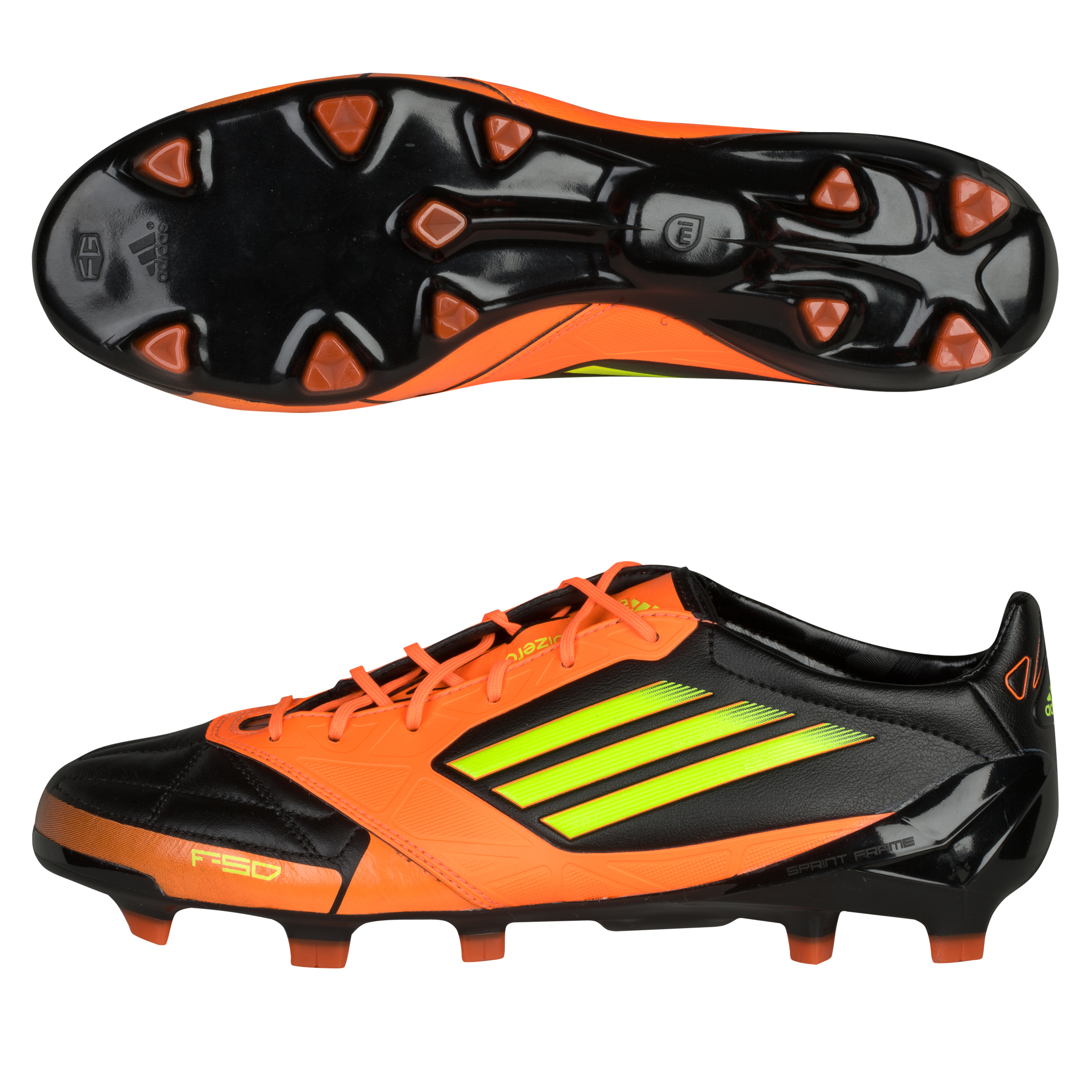 adidas F50 adizero TRX Firm Ground Leather Football Boots - Black 1/Electricity/Warning