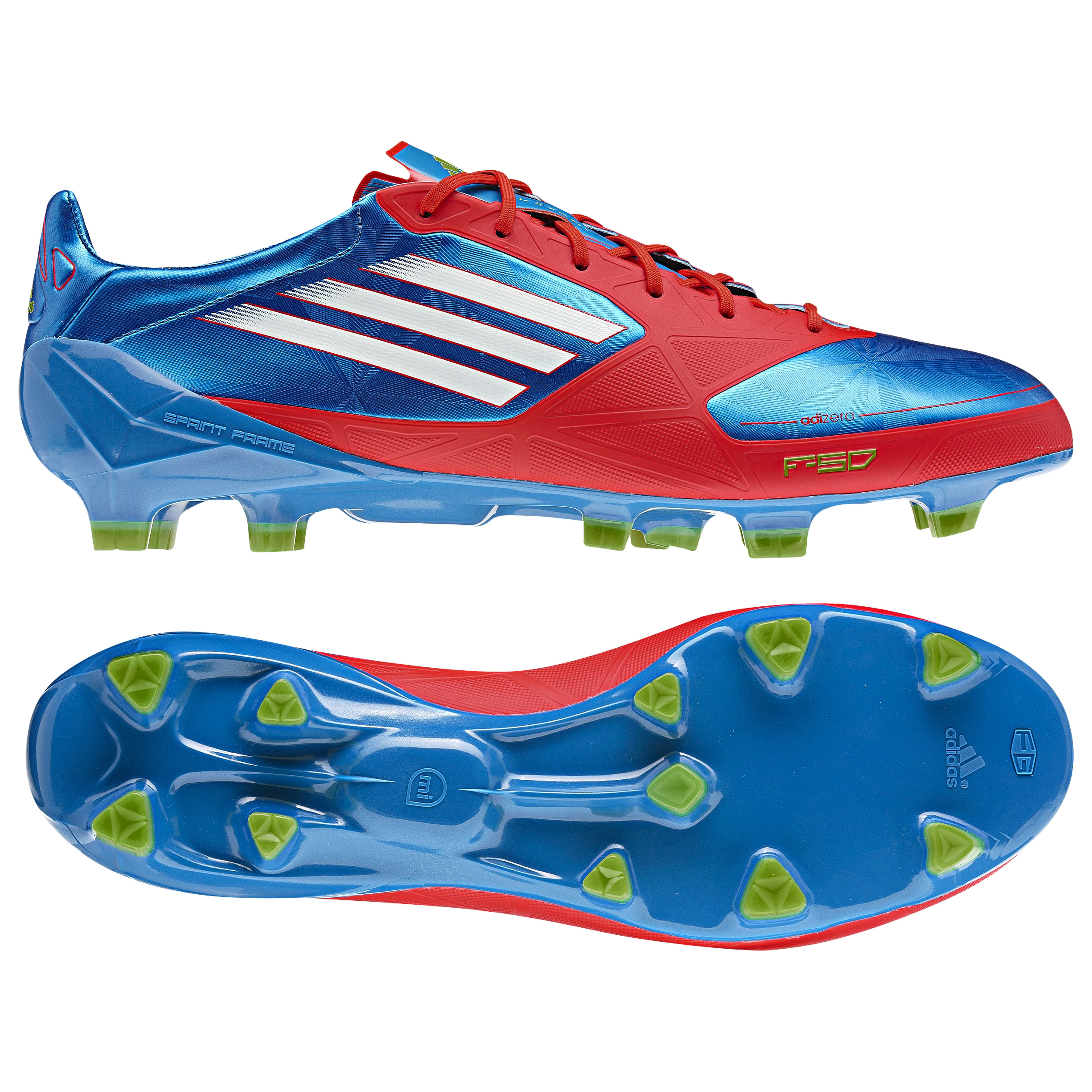F50 adizero TRX FG Synthetic Prime Blue S12/White/Core Energy S12