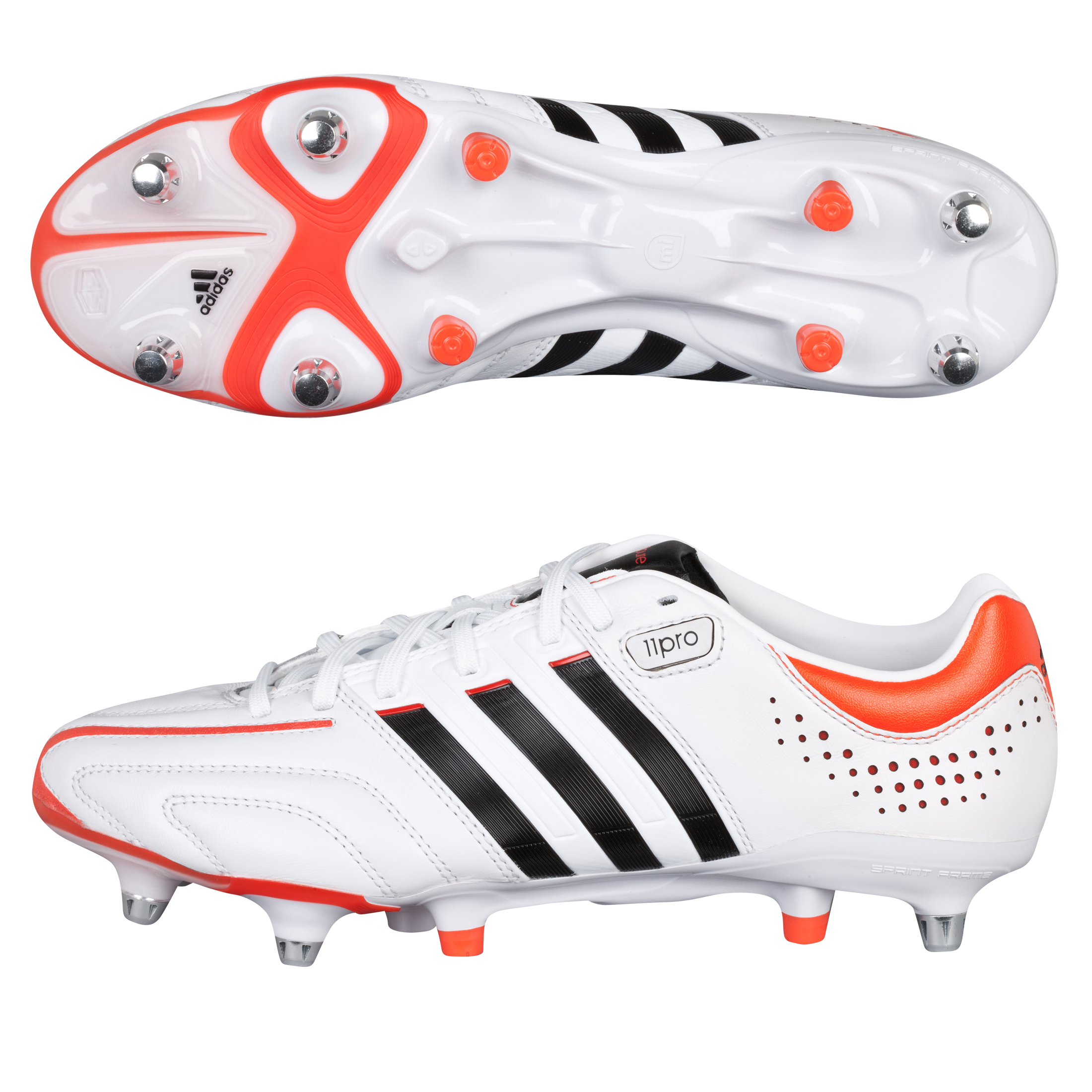 adidas adipure 11Pro XTRX Soft Ground Football Boots - Running White/Black 1/High Energy S12