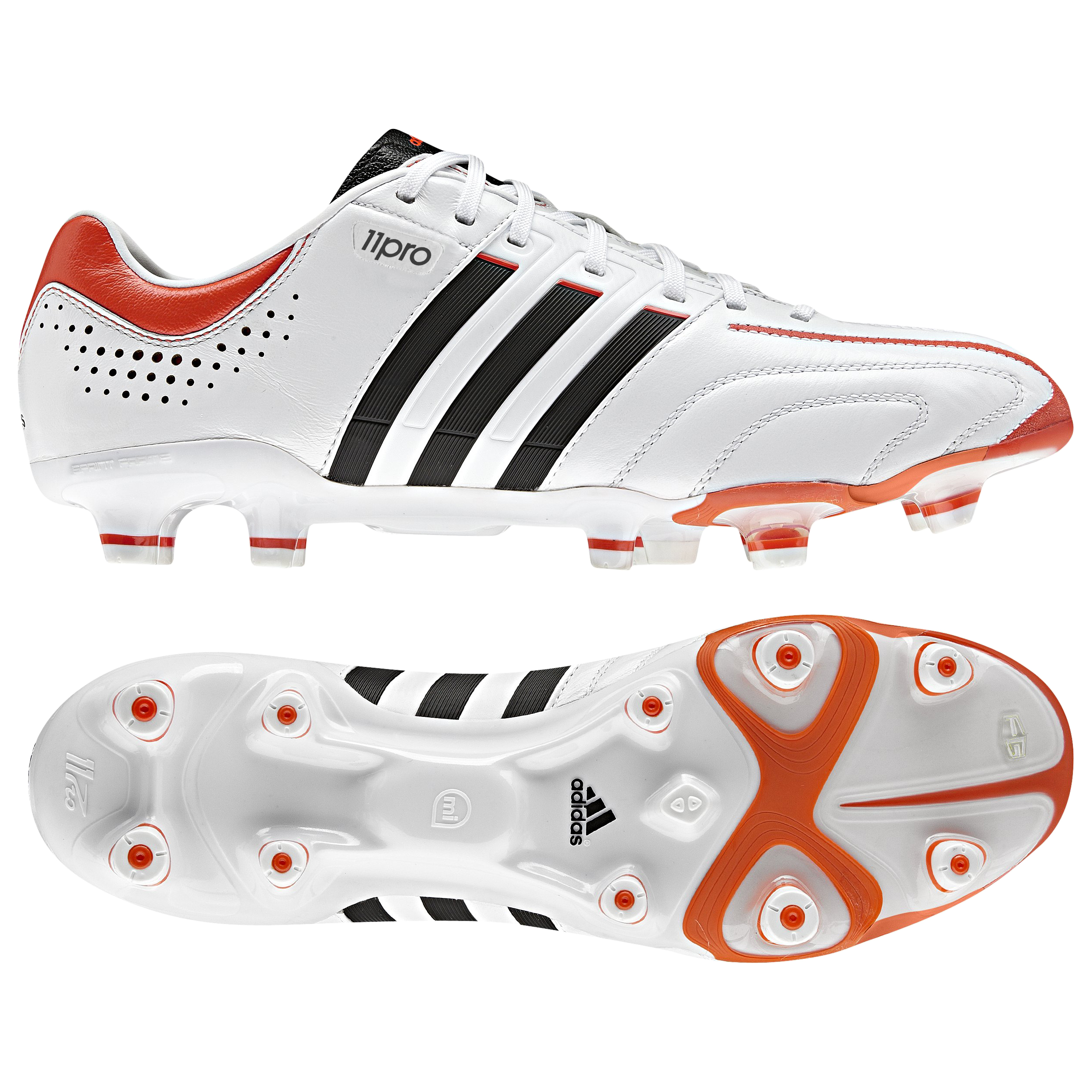 adidas adipure 11Pro XTRX Firm Ground Football Boots - Running White/Black 1/High Energy S12