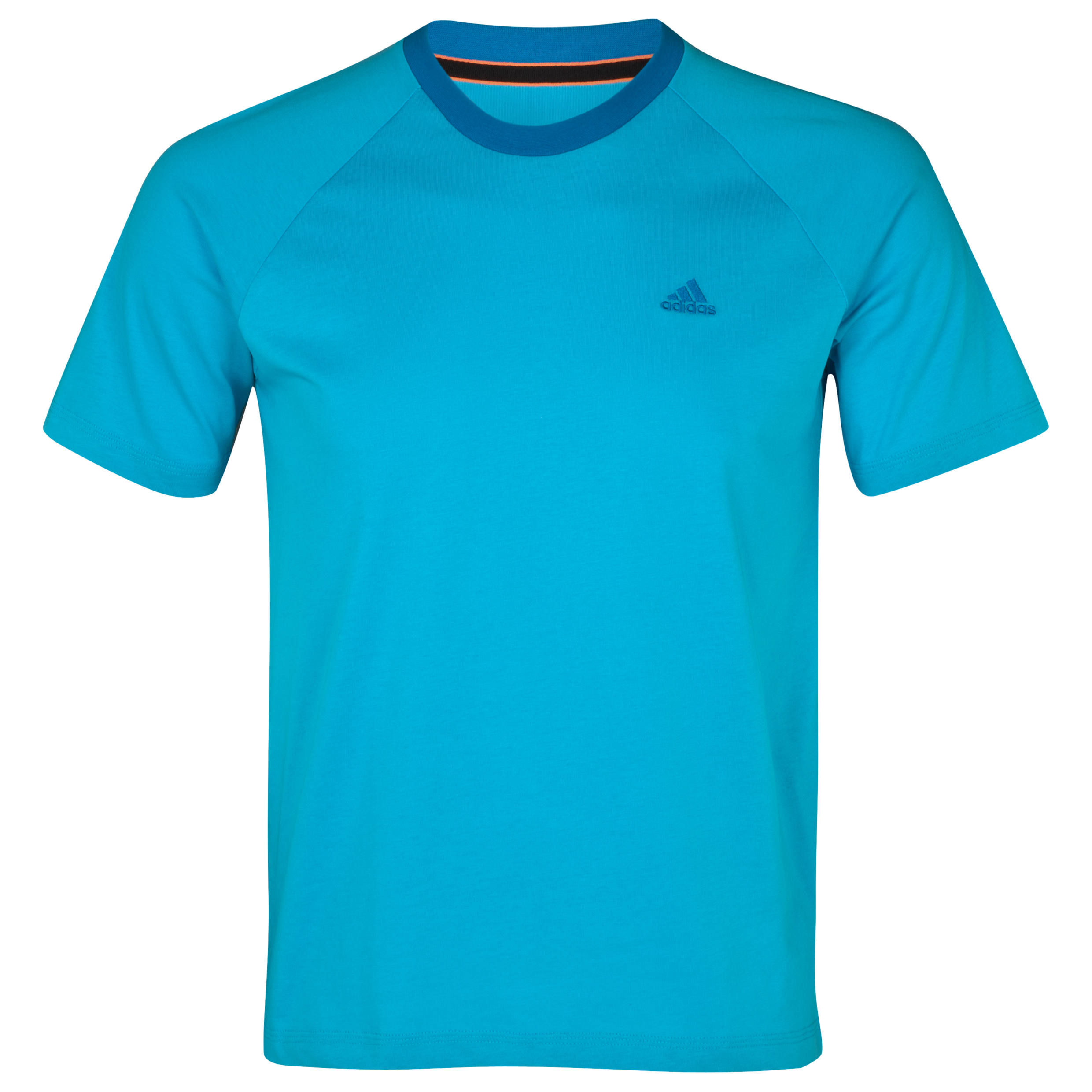 Adidas Essentials Crew T-Shirt - Super Cyan S12