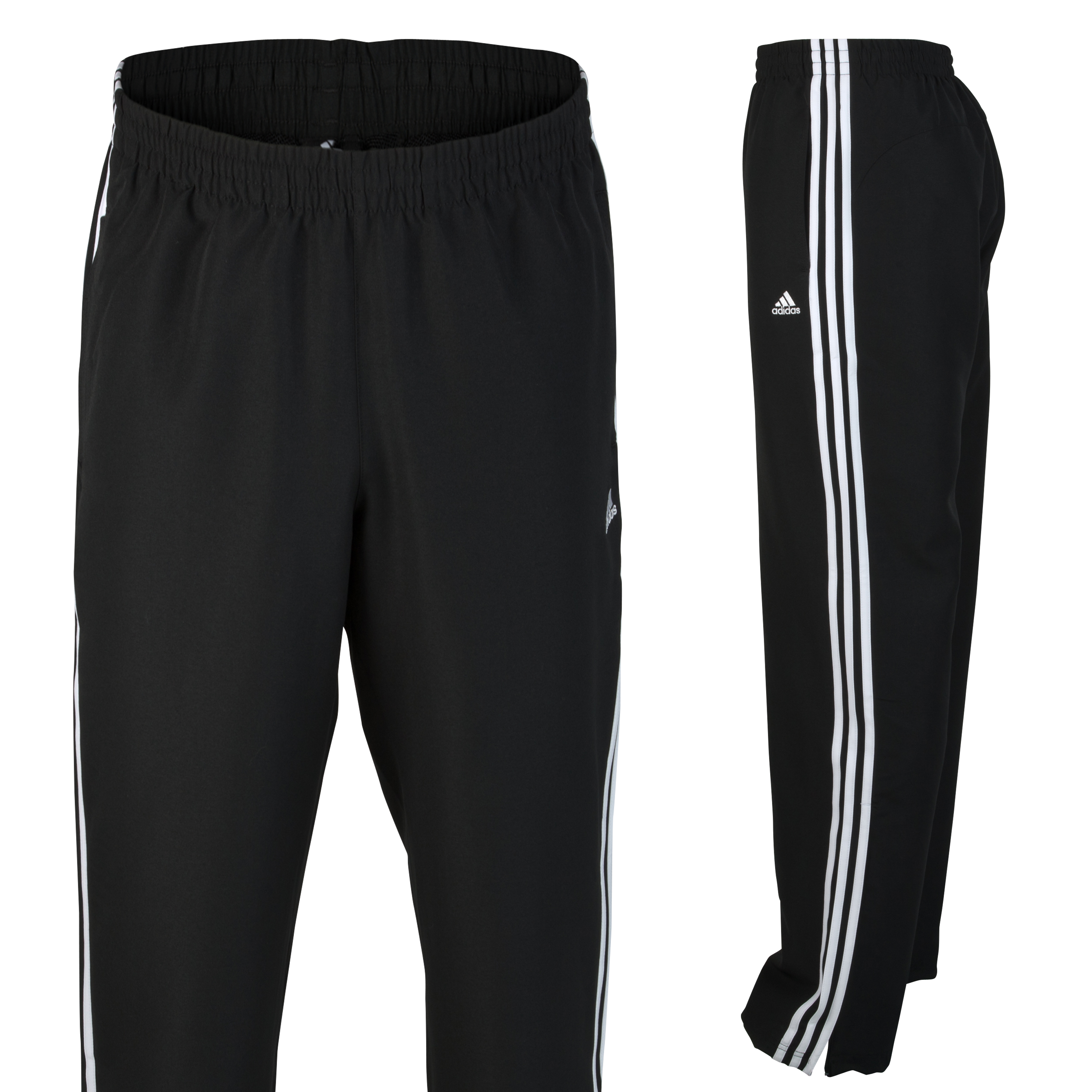 adidas Essentials 3 Stripe Woven Pant - Black/White