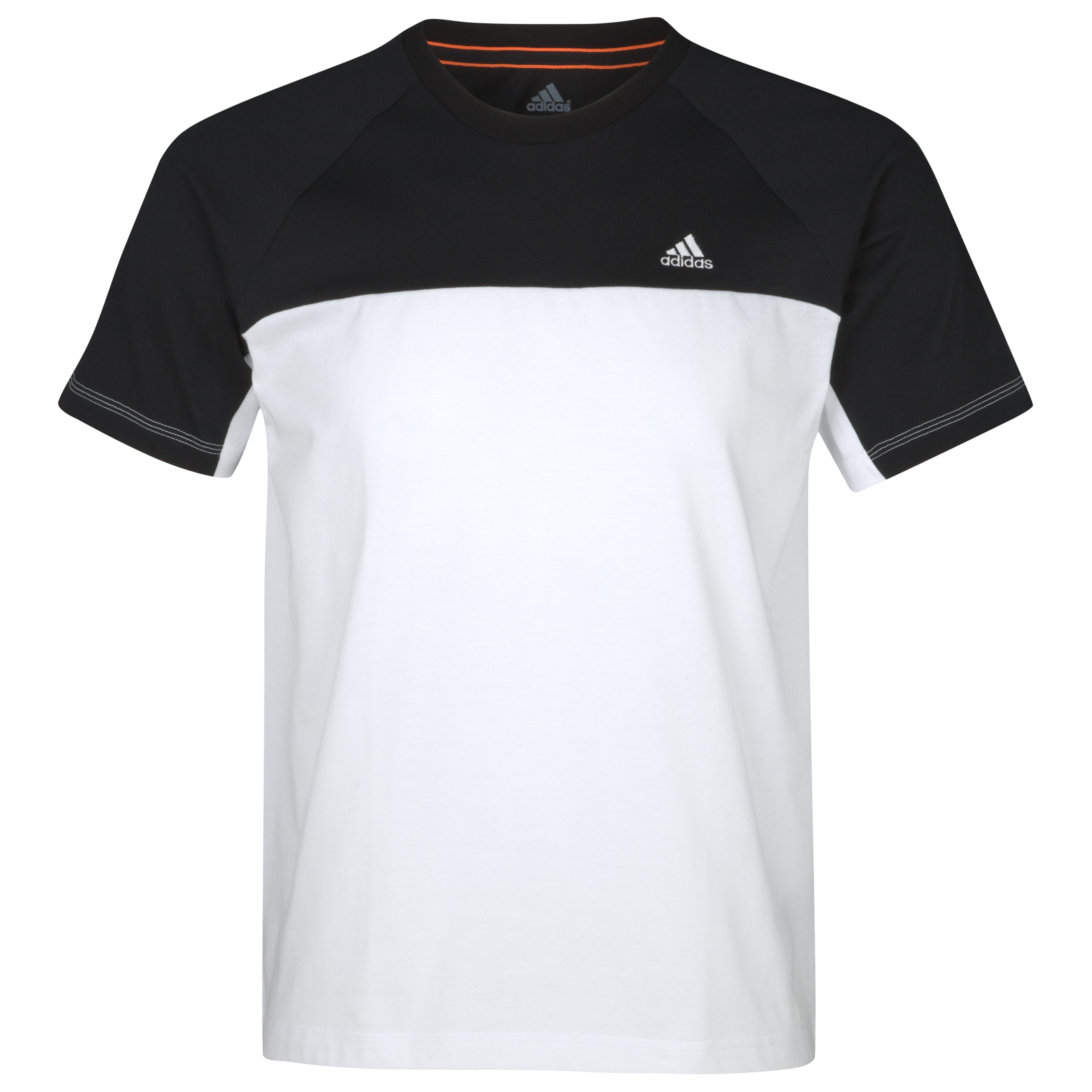 Adidas Essentials Crew T-Shirt - White/Black