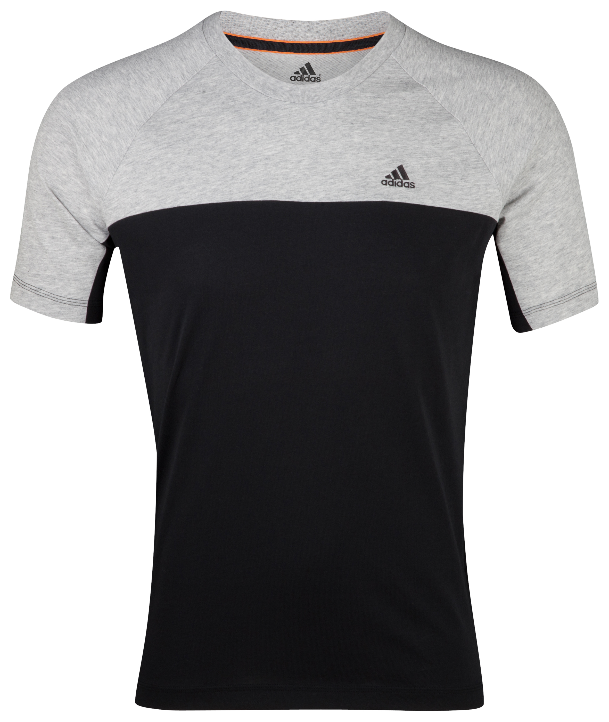 Adidas Essentials Crew T-Shirt - Black/Medium Grey Heather