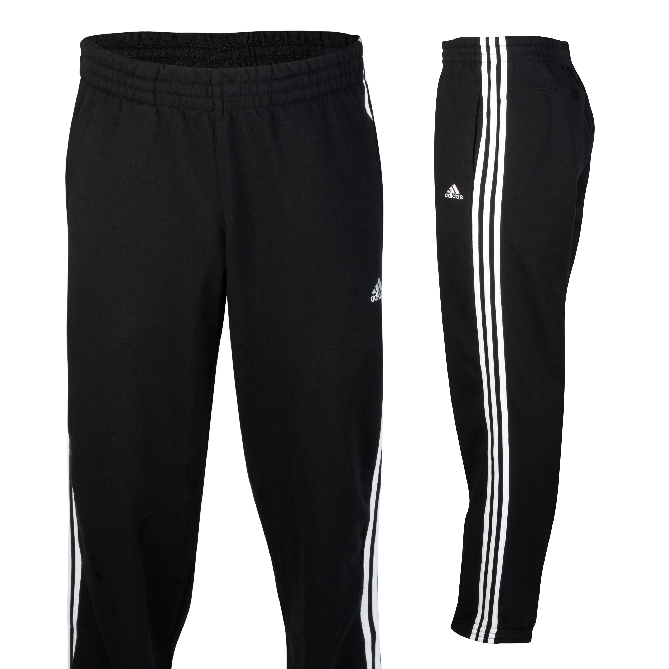 adidas Essentials 3 Stripe Sweat Pant - Black/White