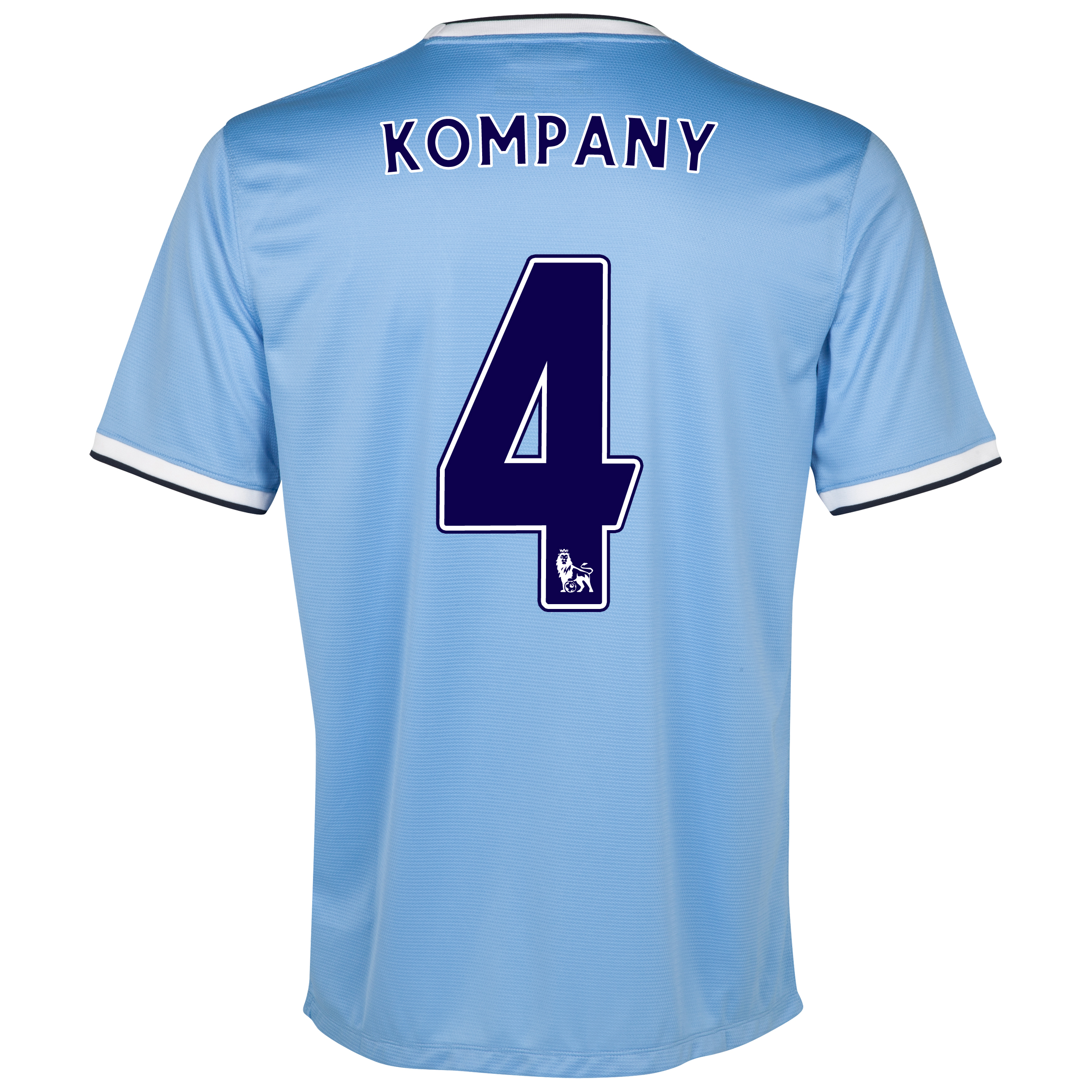 Manchester City Home Shirt 2013/14 with Kompany 4 printing
