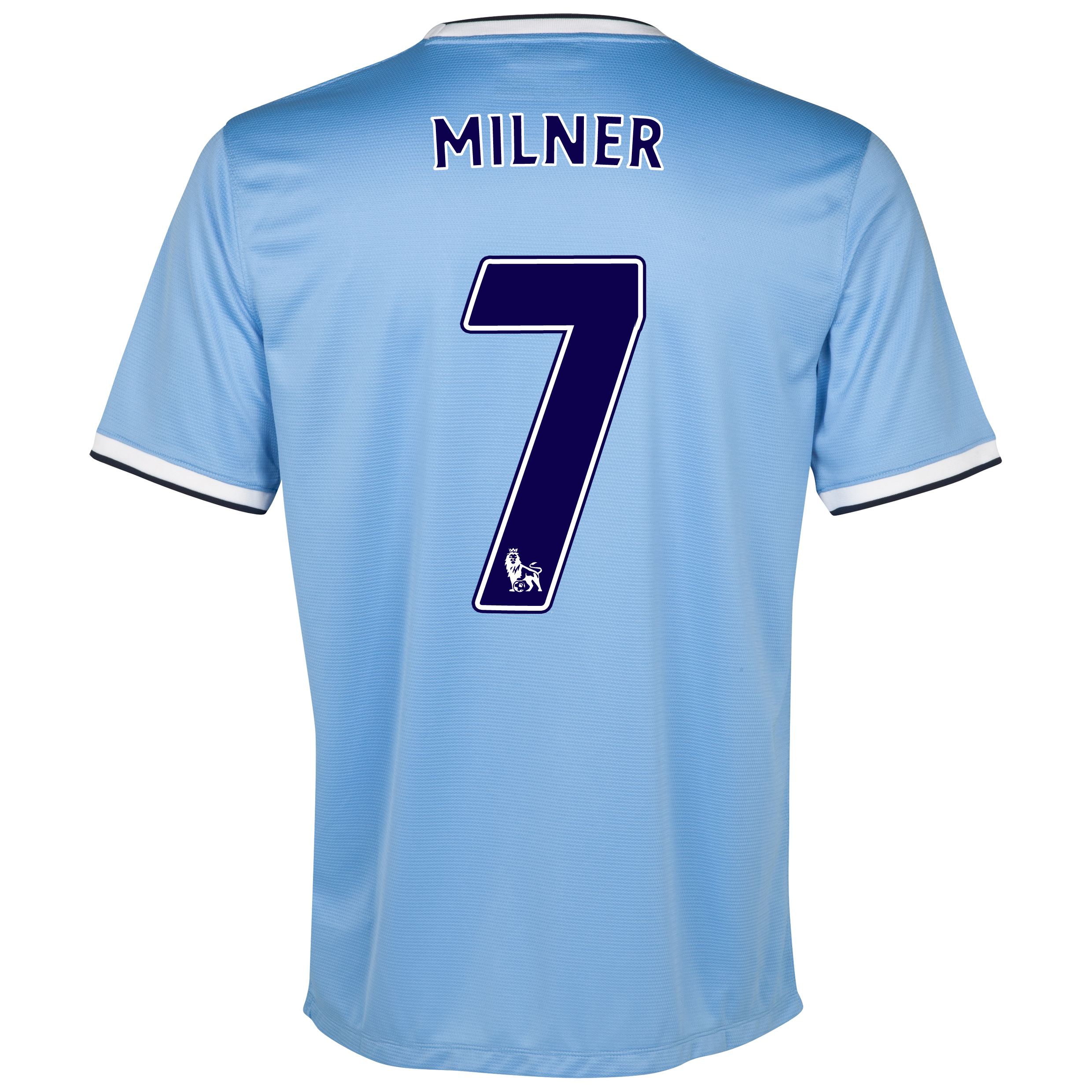 Manchester City Home Shirt 2013/14 with Milner 7 printing