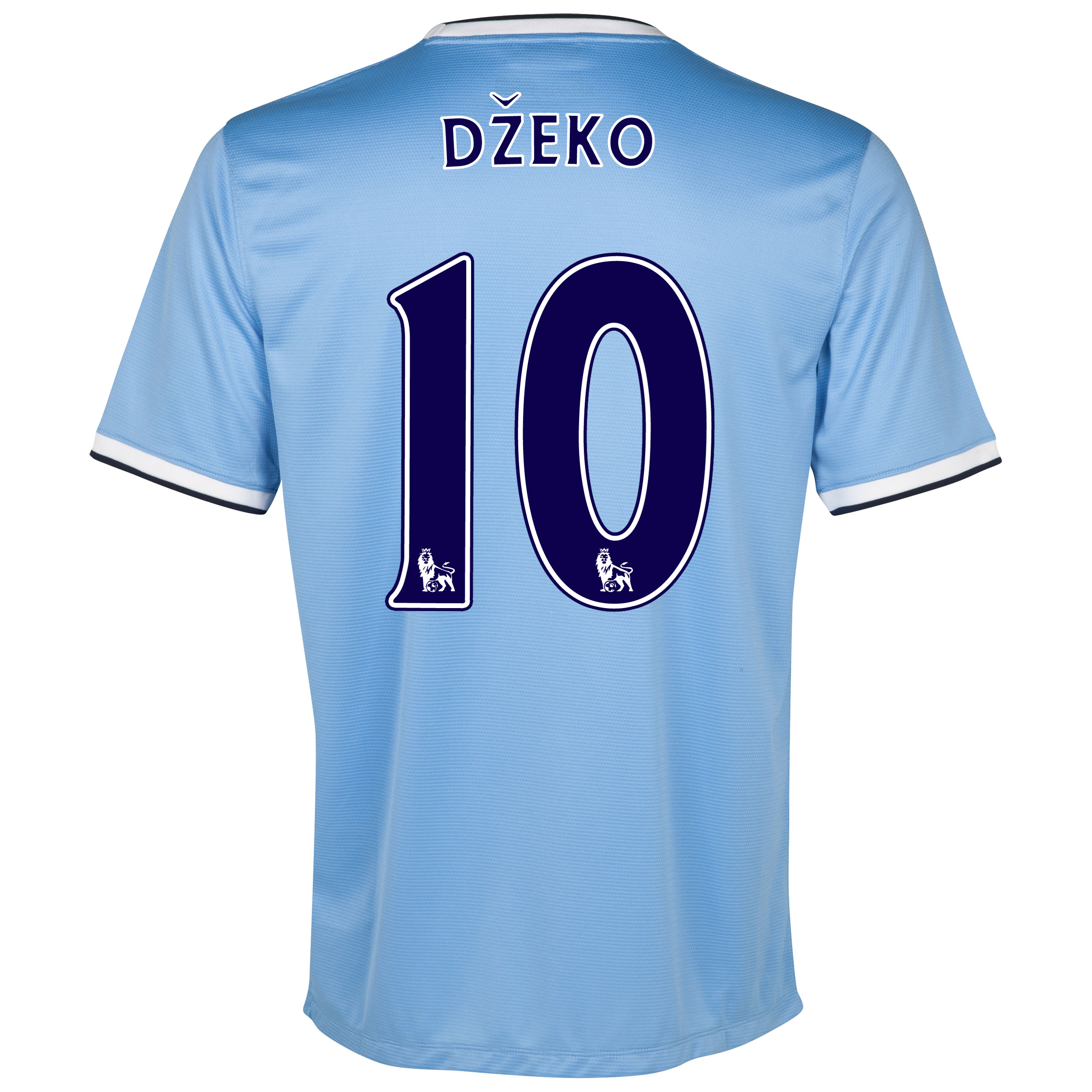 Manchester City Home Shirt 2013/14 with Dzeko 10 printing