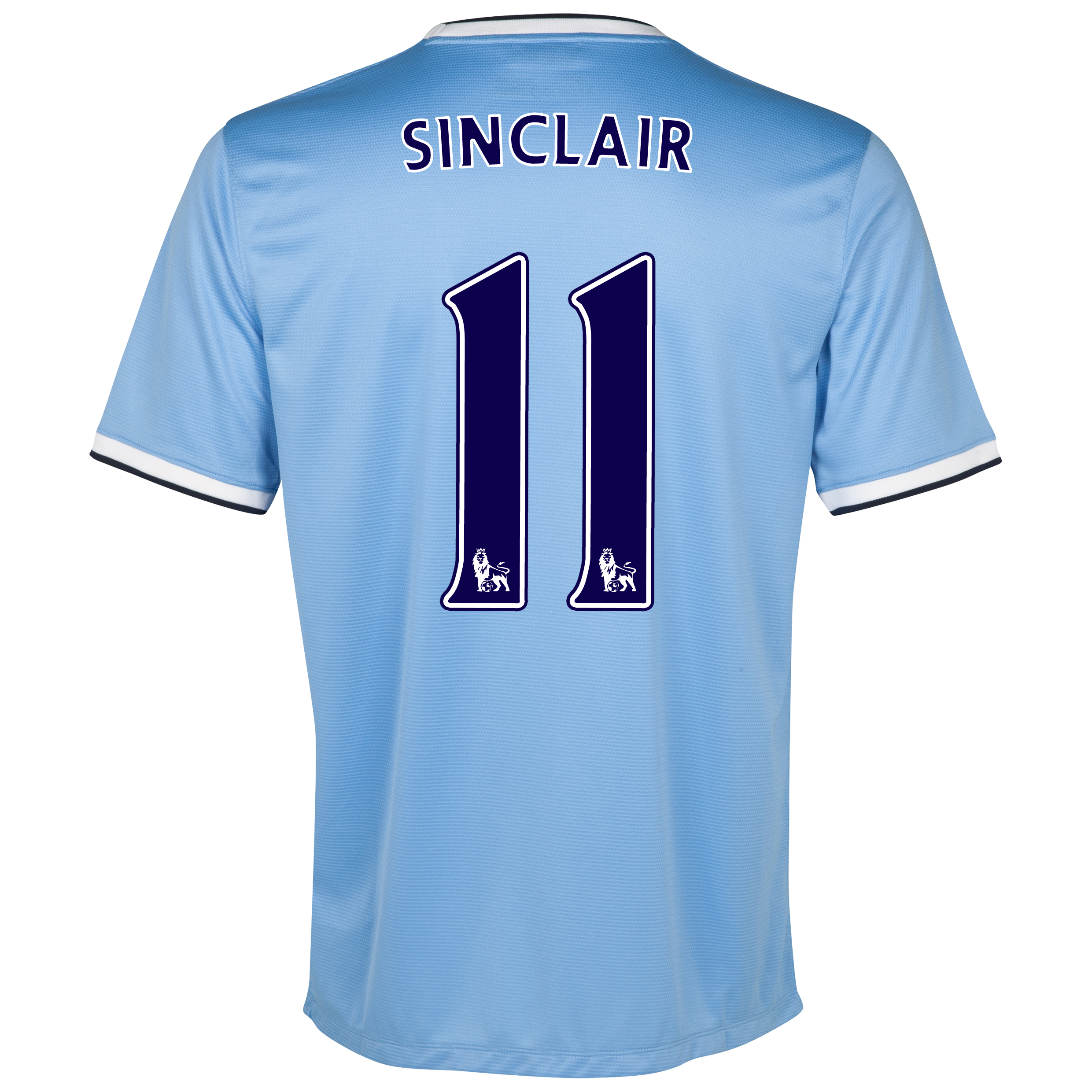 Manchester City Home Shirt 2013/14 with Sinclair 11 printing