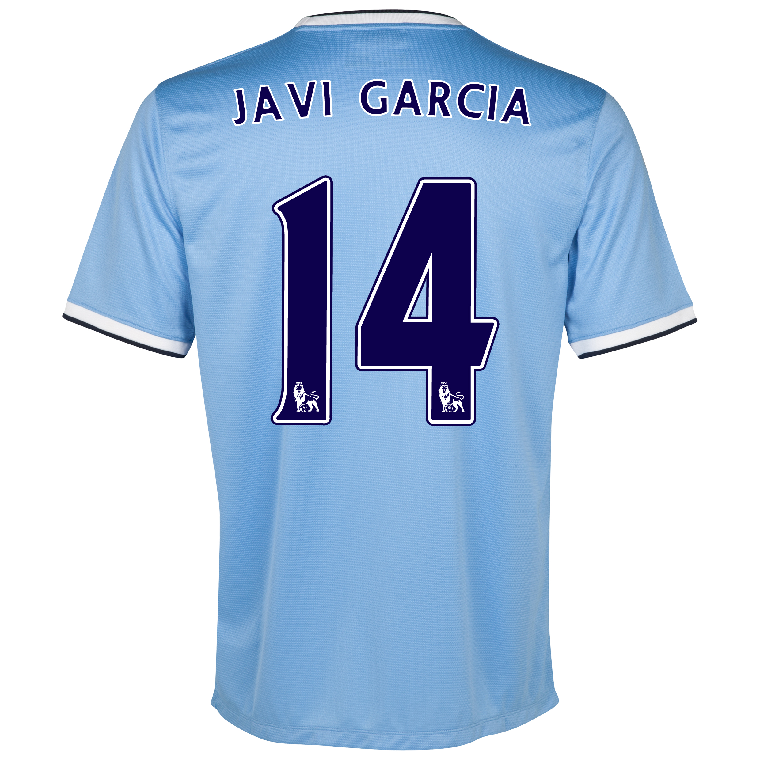 Manchester City Home Shirt 2013/14 with Javi Garcia 14 printing