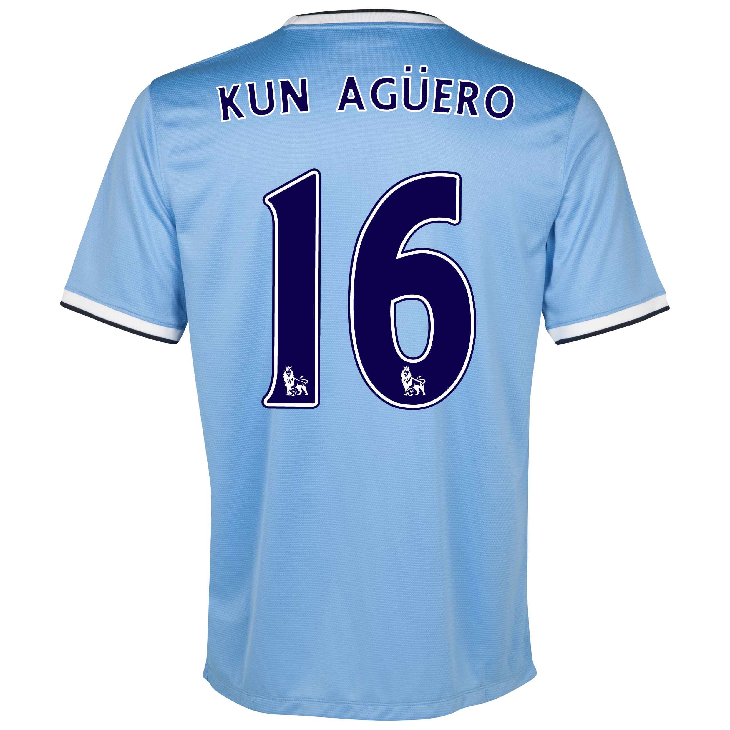 Manchester City Home Shirt 2013/14 with Kun Agüero  16 printing