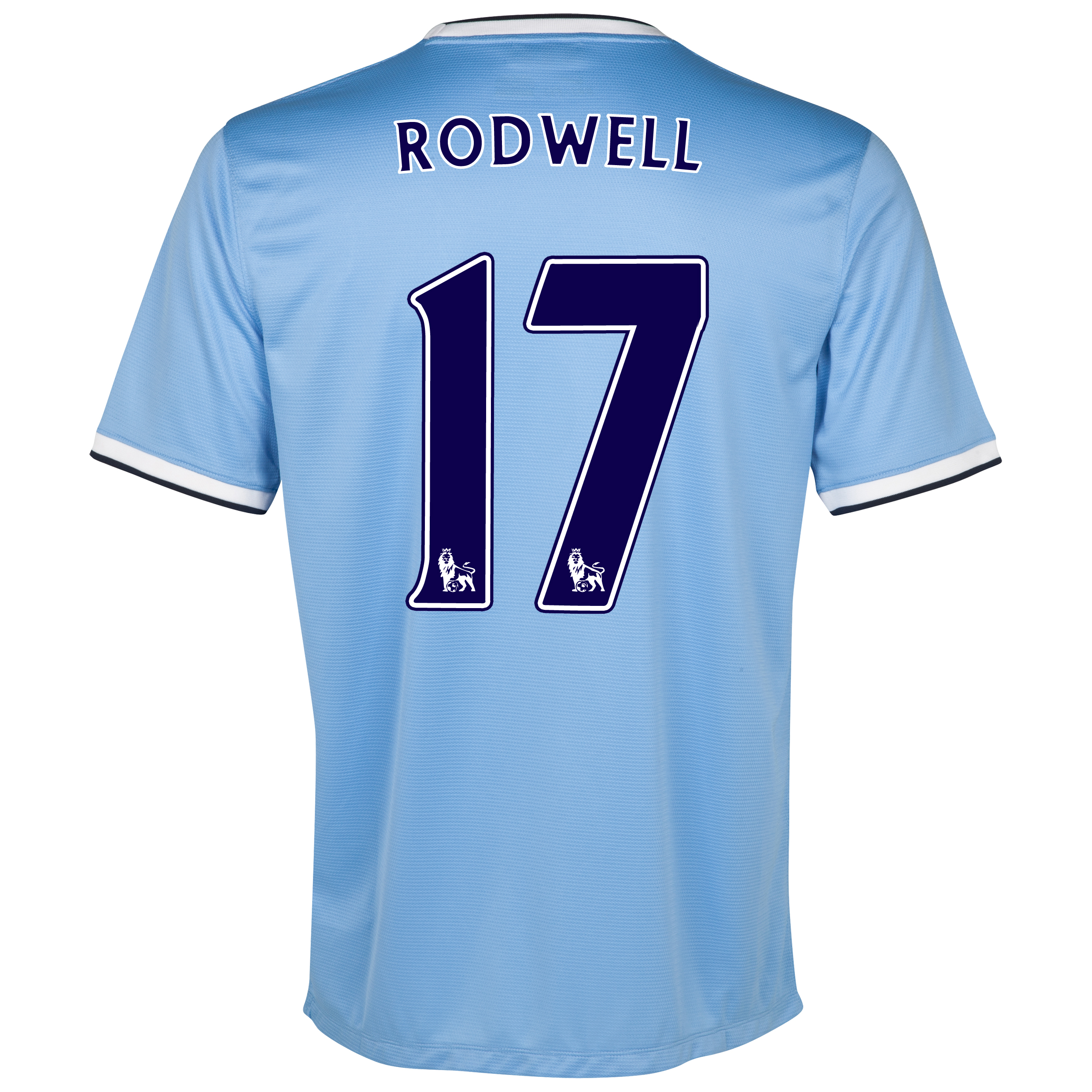 Manchester City Home Shirt 2013/14 with Rodwell 17 printing