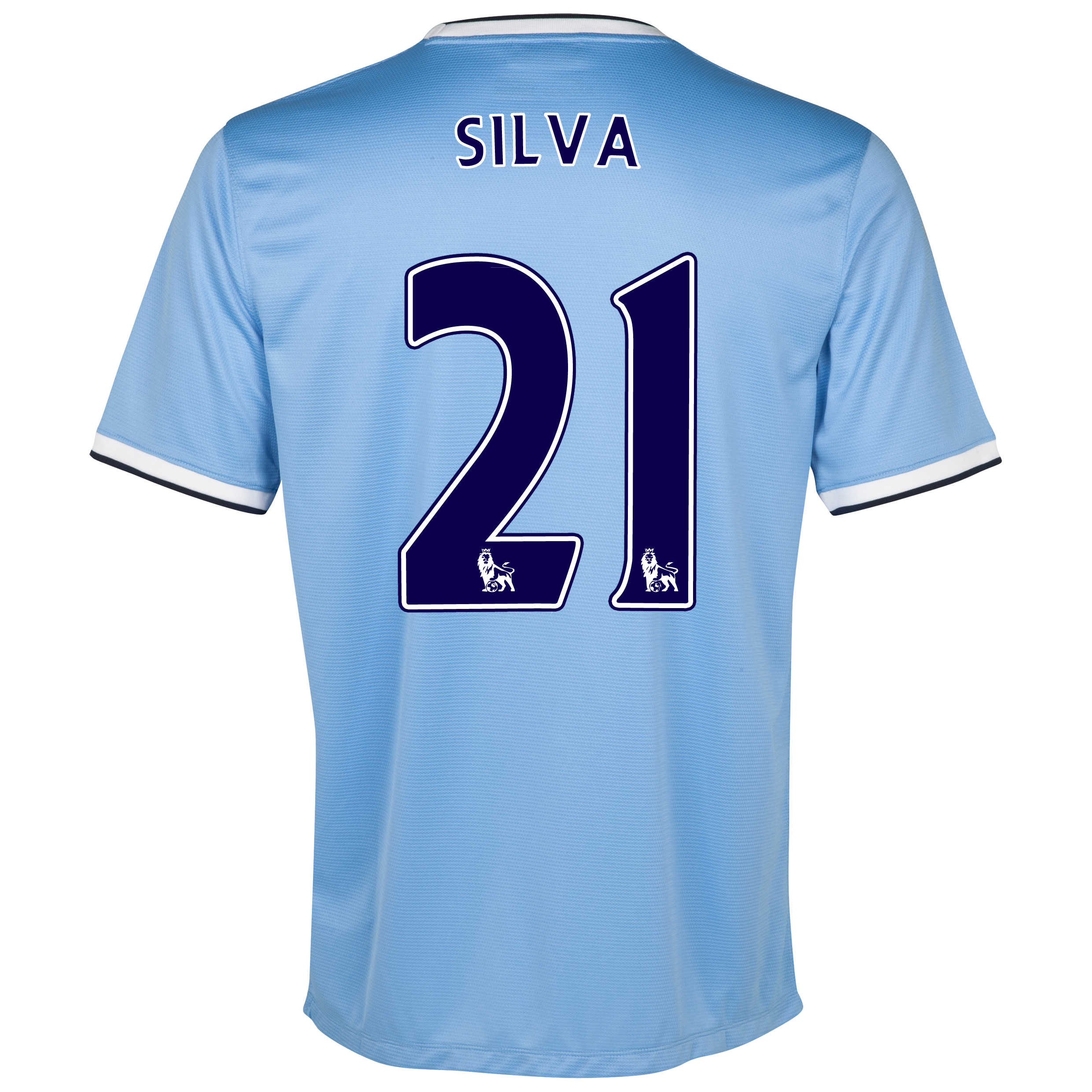 Manchester City Home Shirt 2013/14 with Silva 21 printing