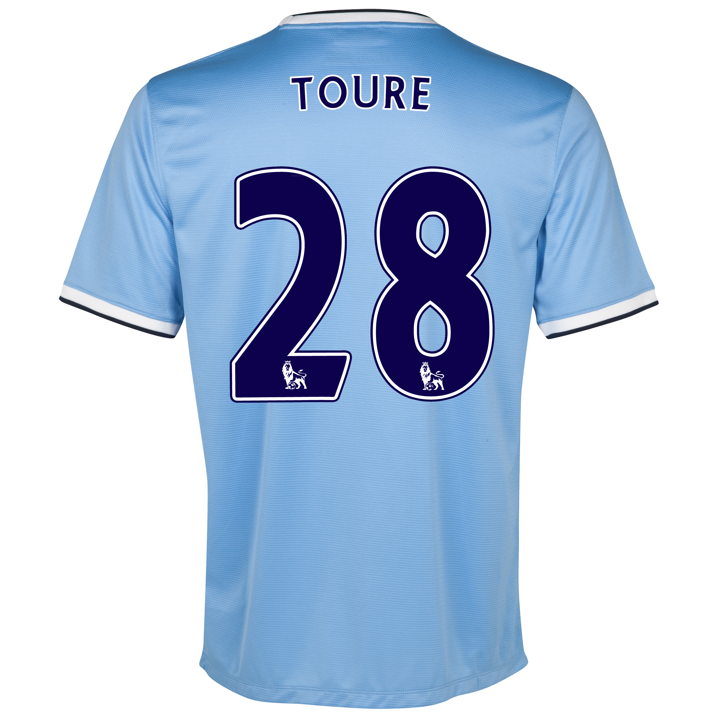Manchester City Home Shirt 2013/14 with Toure 28 printing