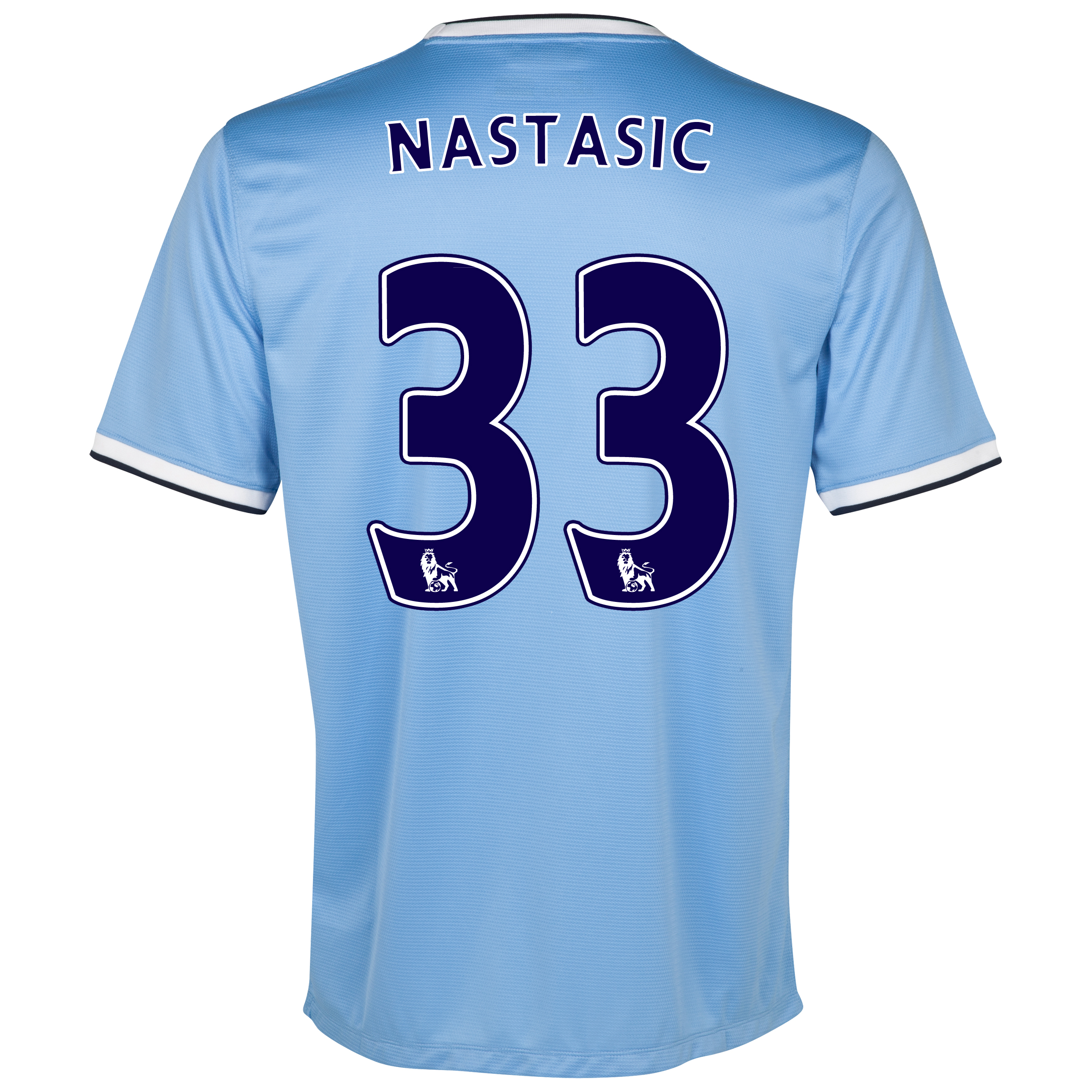 Manchester City Home Shirt 2013/14 with Nastasic 33 printing