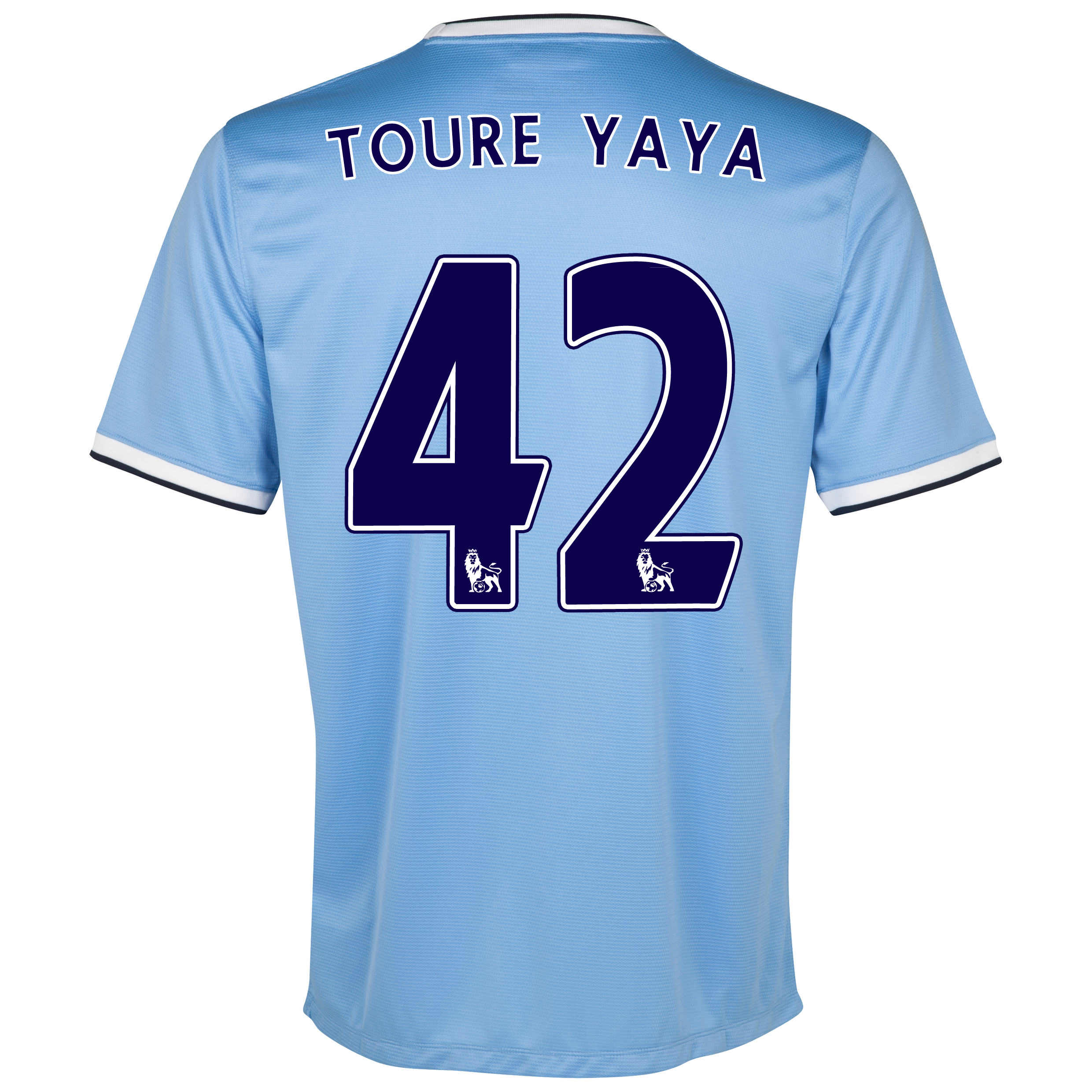 Manchester City Home Shirt 2013/14 with Toure Yaya 42 printing
