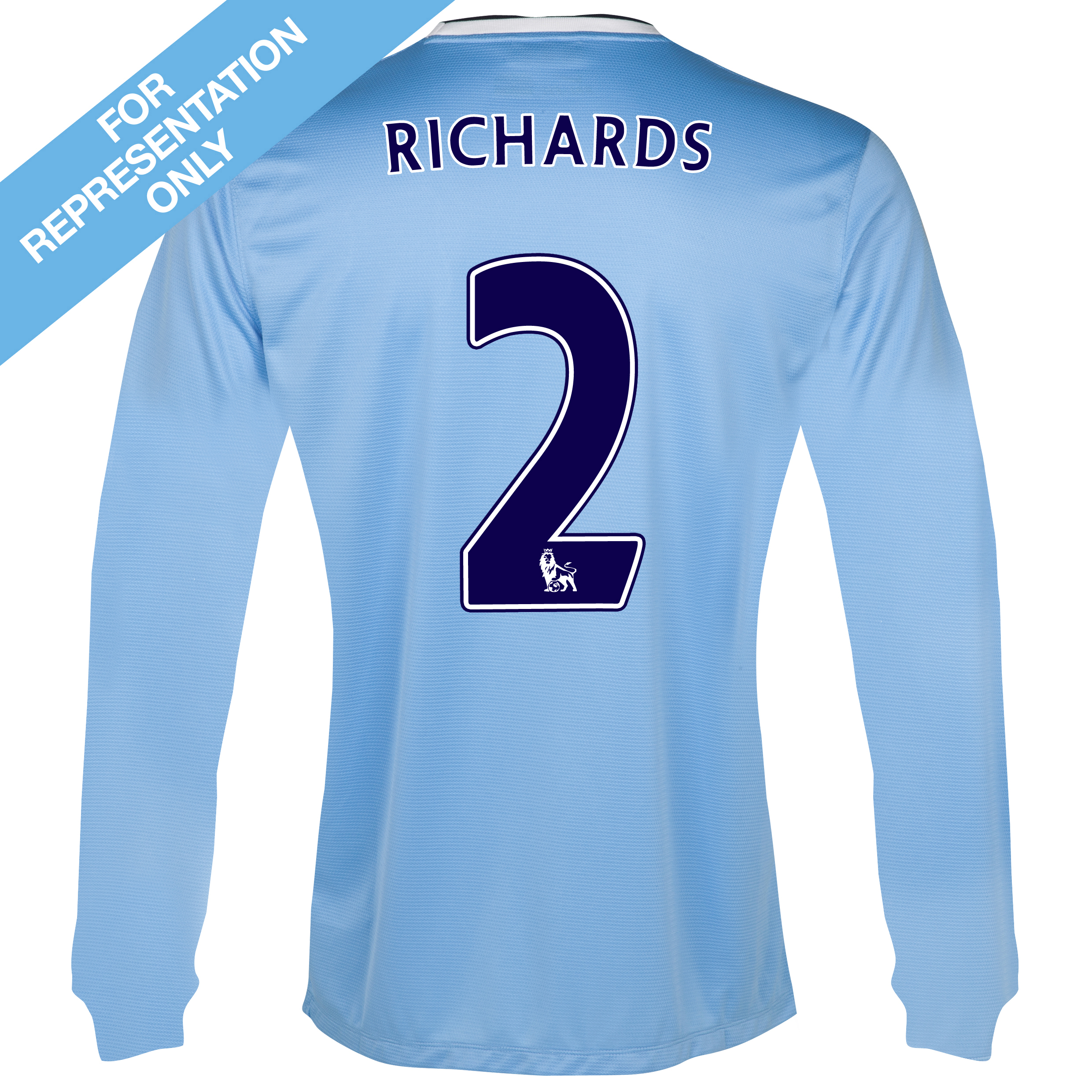 Manchester City Home Shirt 2013/14 - Long Sleeved with Richards 2 printing