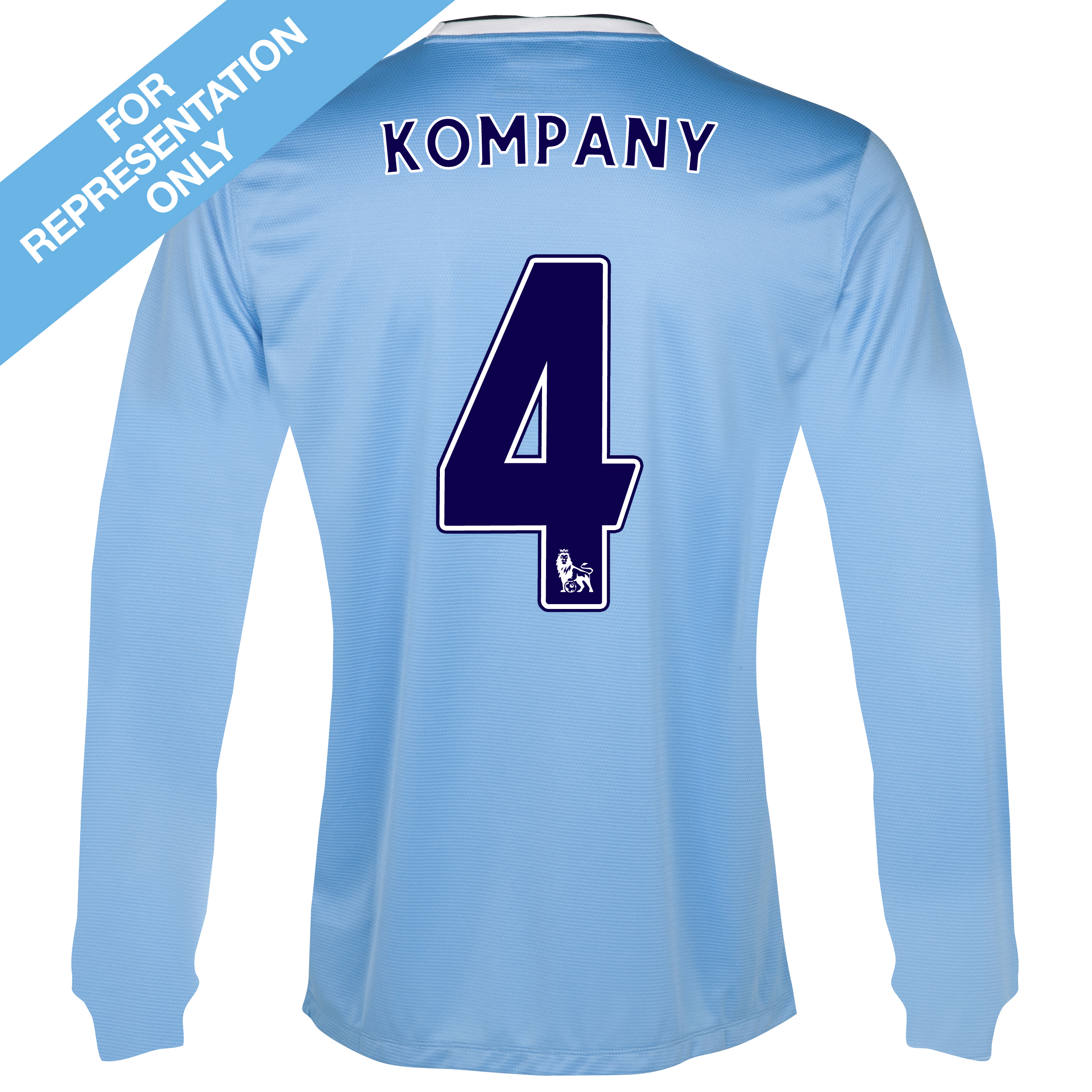 Manchester City Home Shirt 2013/14 - Long Sleeved with Kompany 4 printing