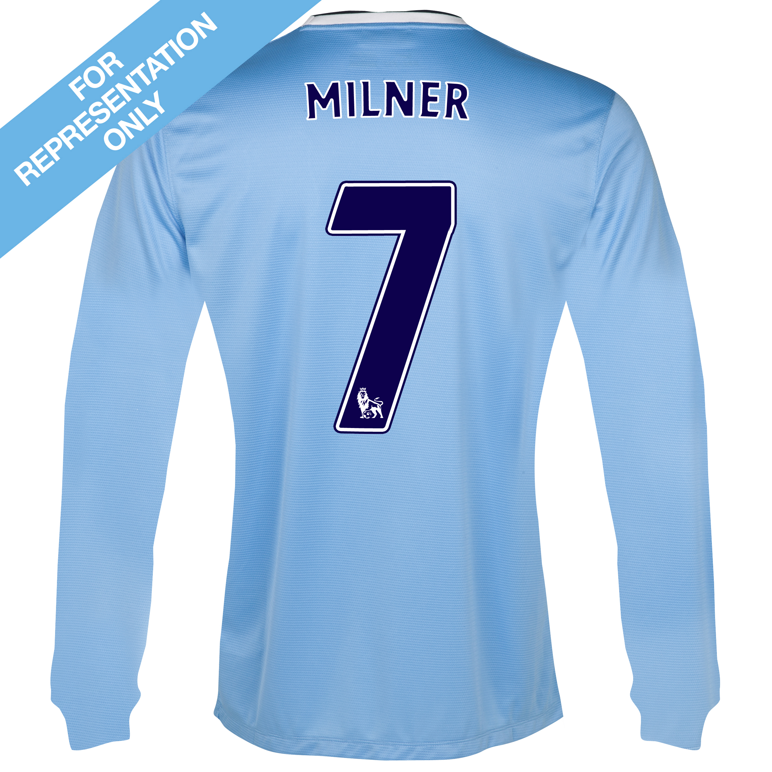 Manchester City Home Shirt 2013/14 - Long Sleeved with Milner 7 printing