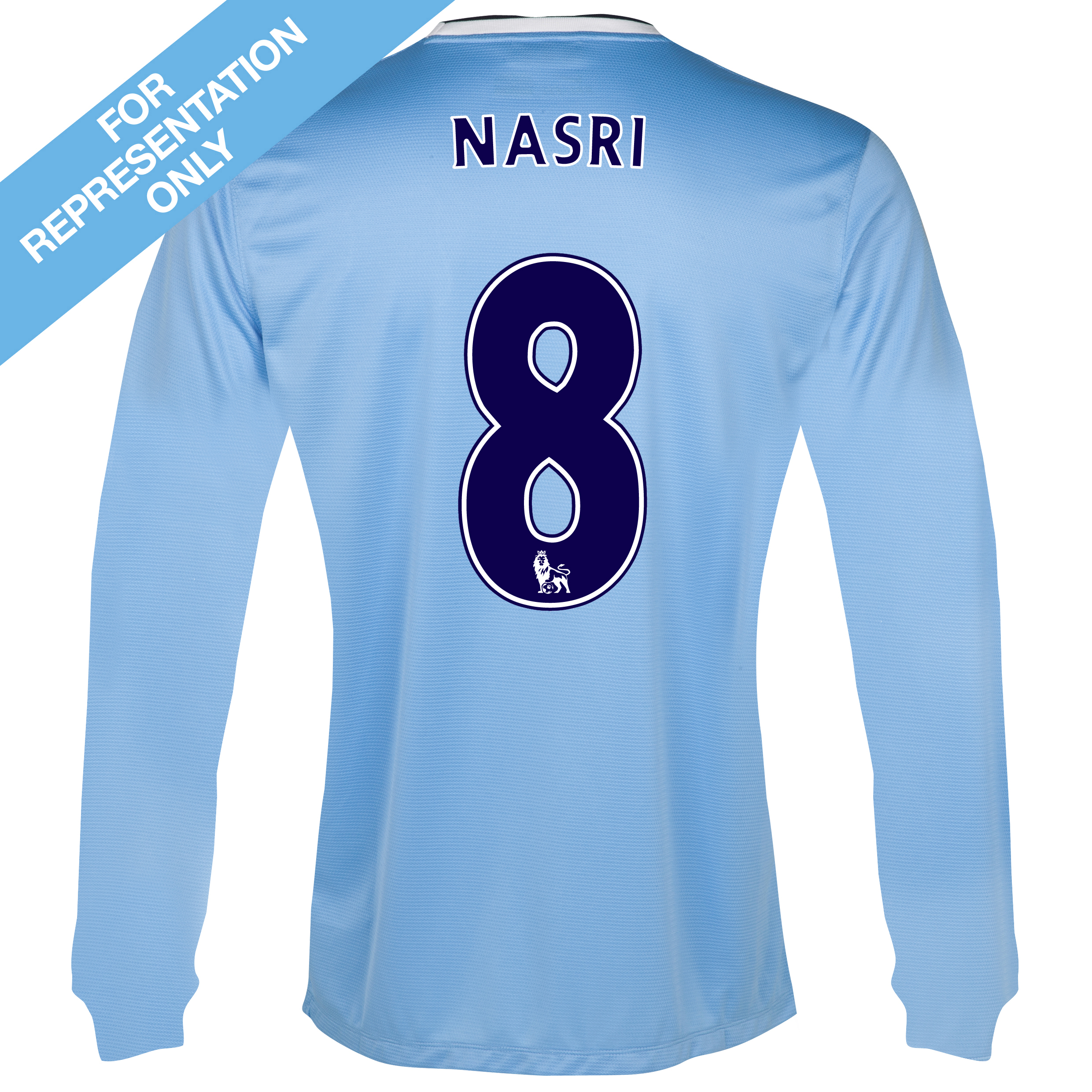 Manchester City Home Shirt 2013/14 - Long Sleeved with Nasri 8 printing
