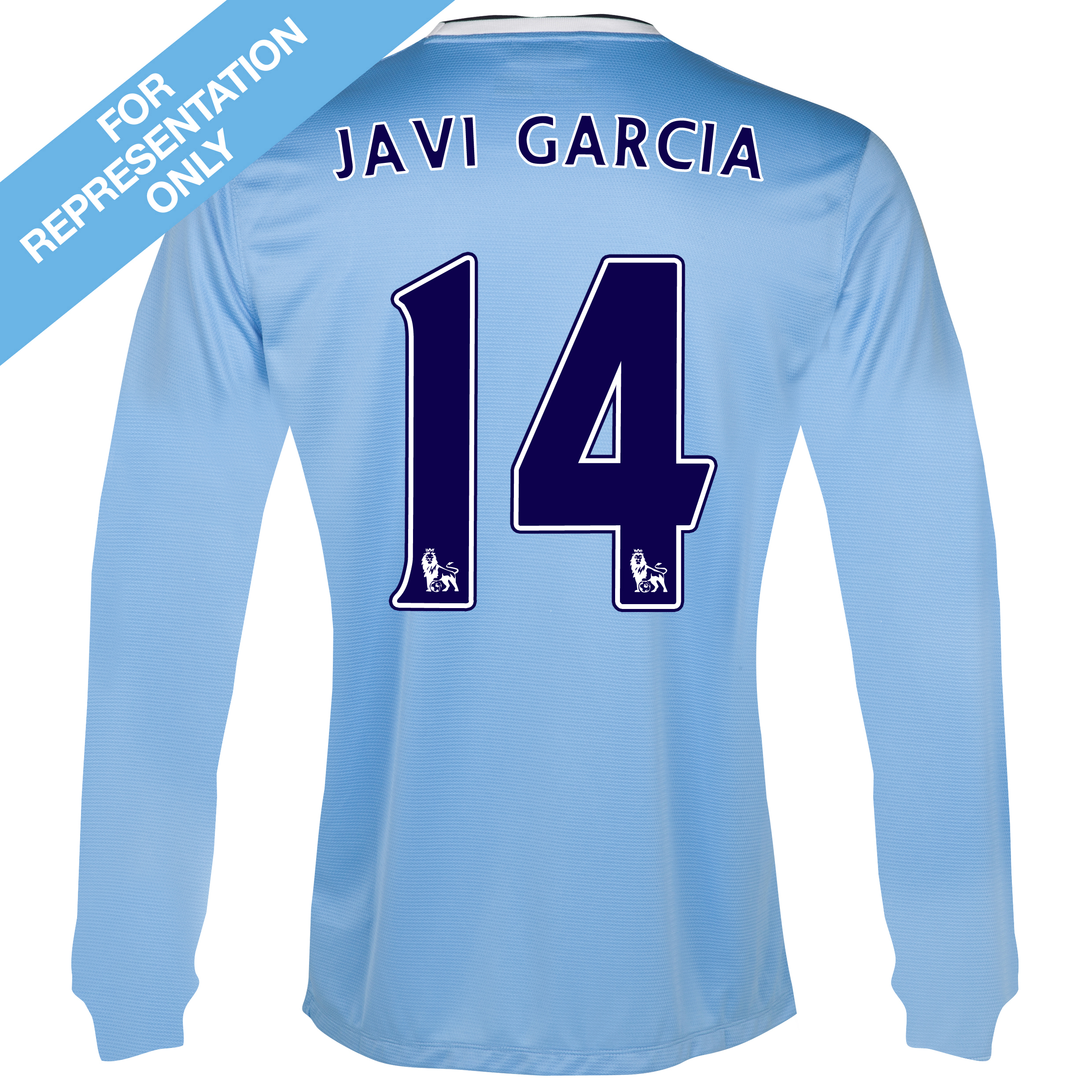 Manchester City Home Shirt 2013/14 - Long Sleeved with Javi Garcia 14 printing