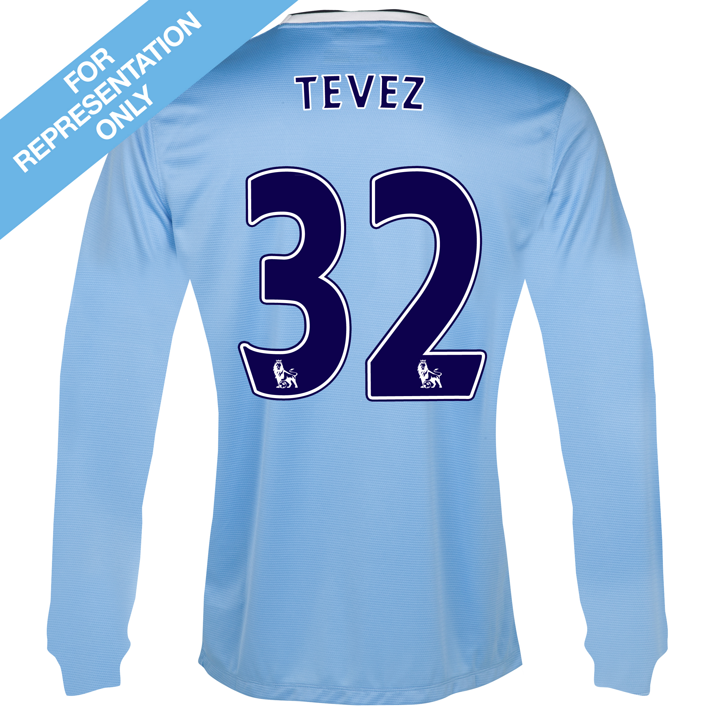 Manchester City Home Shirt 2013/14 - Long Sleeved with Tevez 32 printing