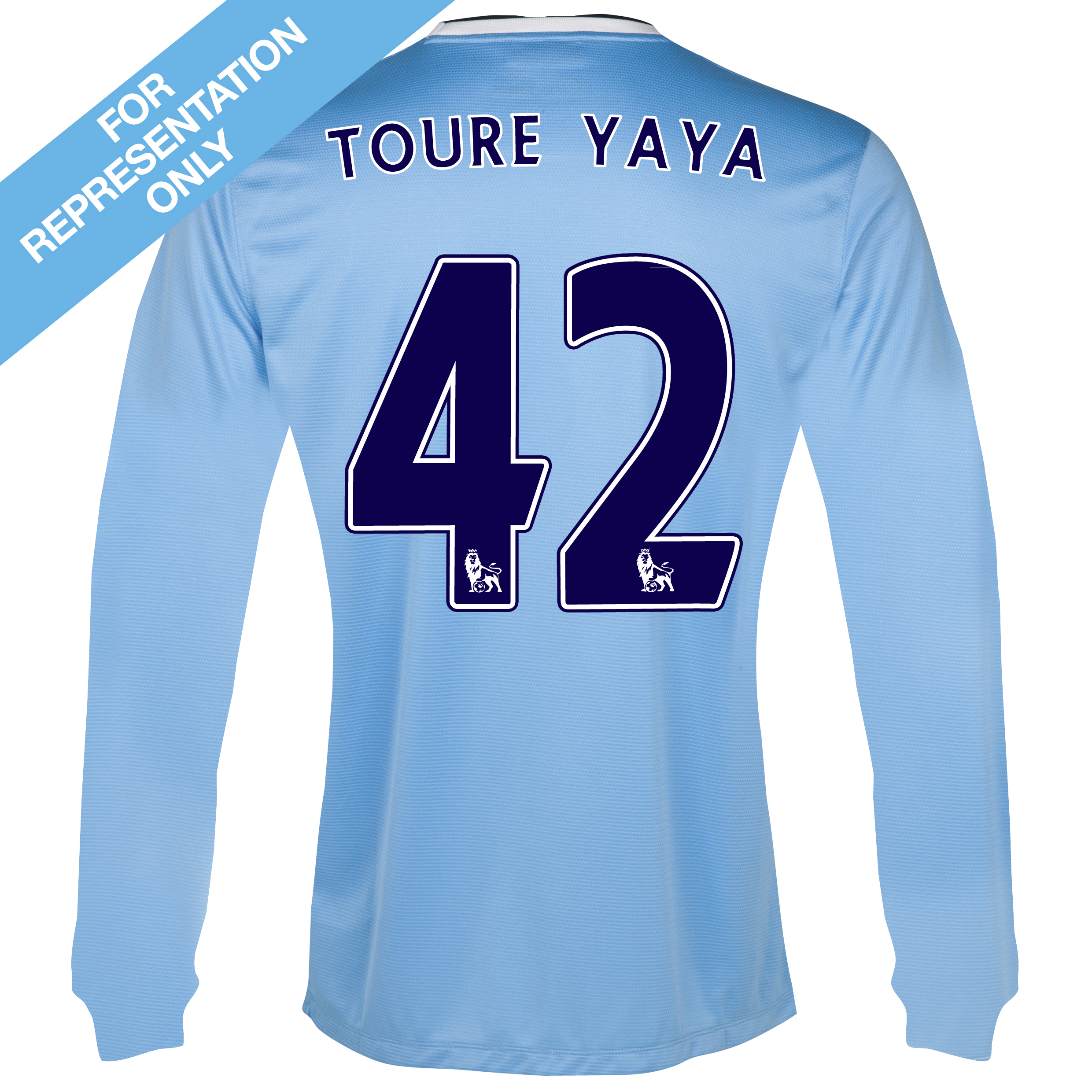 Manchester City Home Shirt 2013/14 - Long Sleeved with Toure Yaya 42 printing