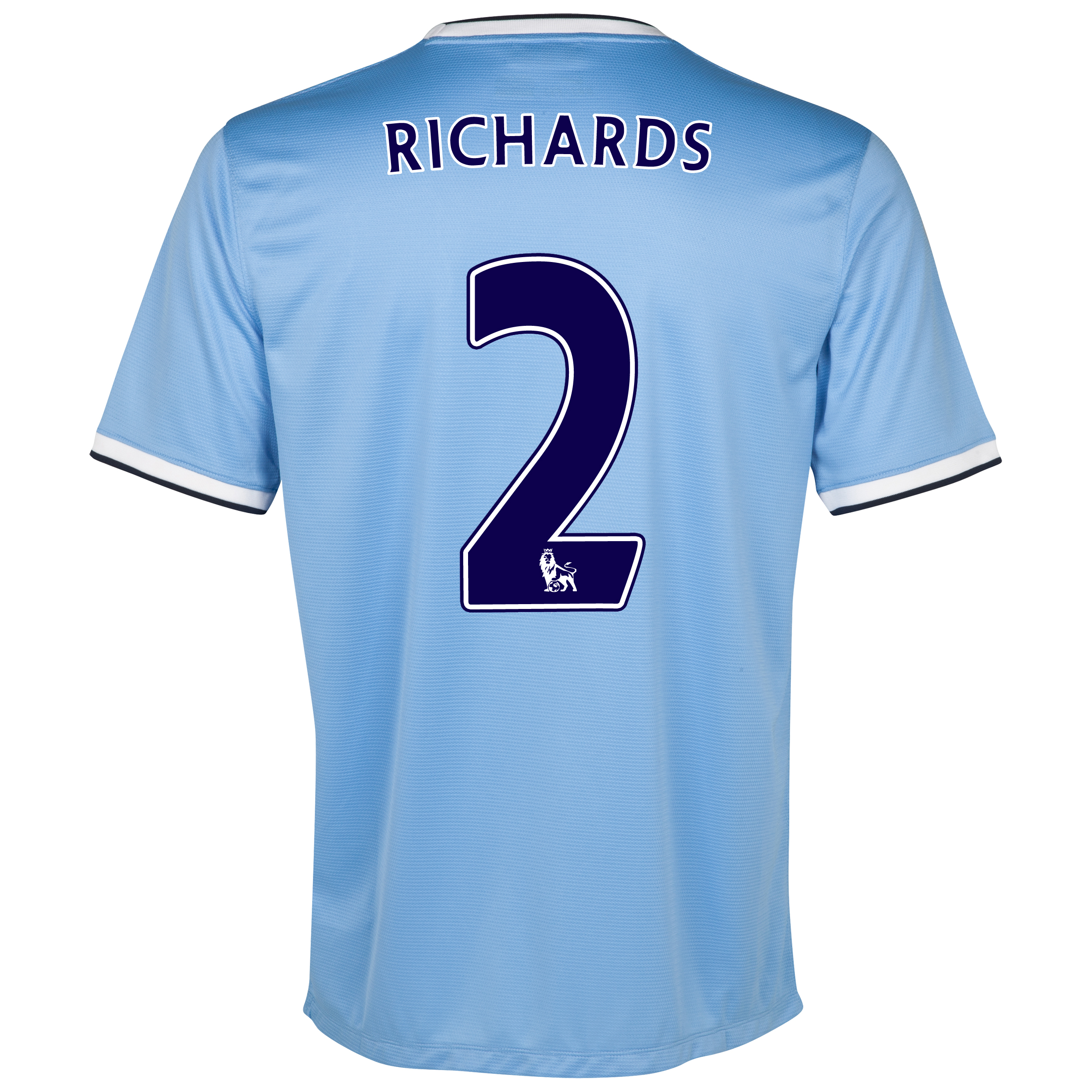 Manchester City Home Shirt 2013/14 - Junior with Richards 2 printing