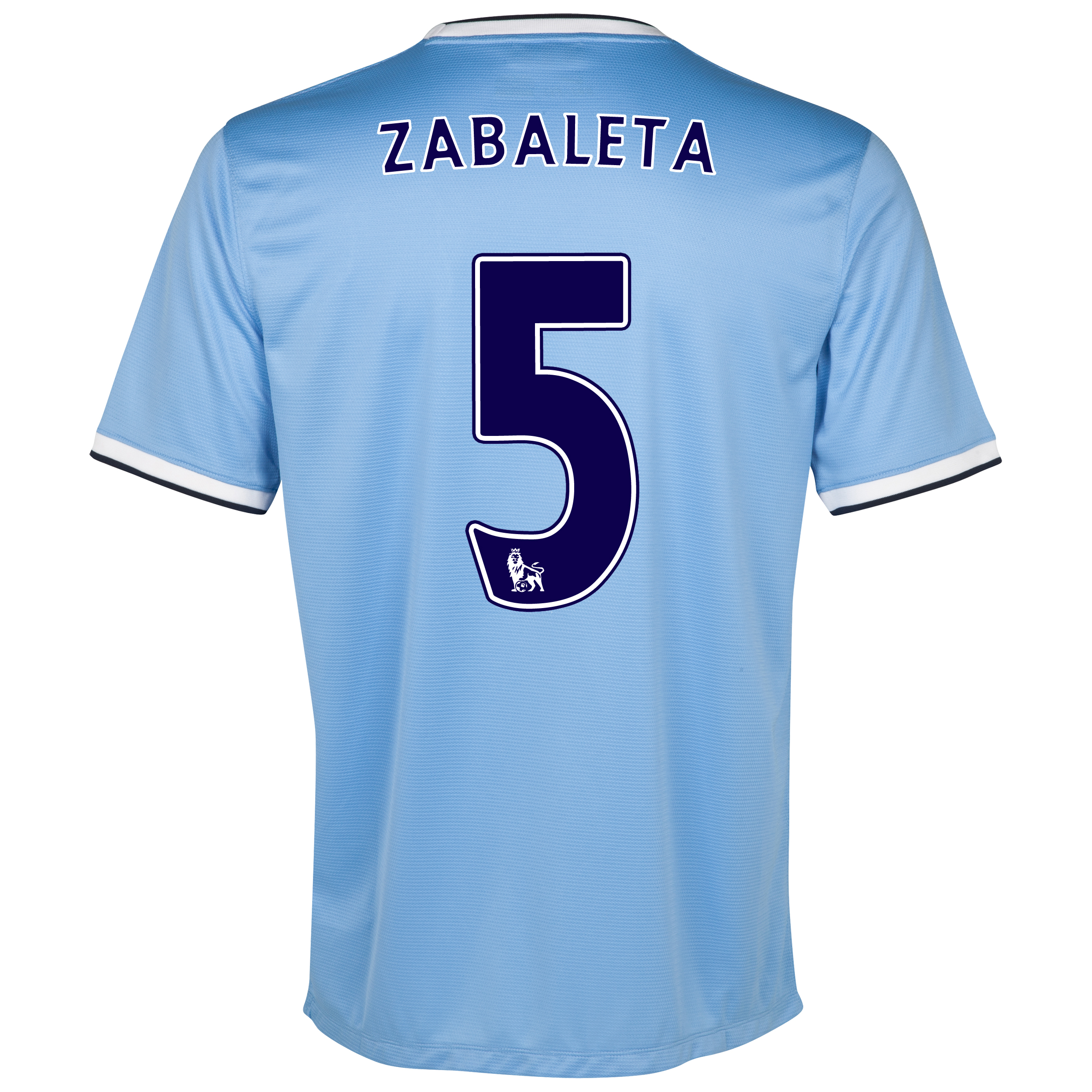 Manchester City Home Shirt 2013/14 - Junior with Zabaleta 5 printing