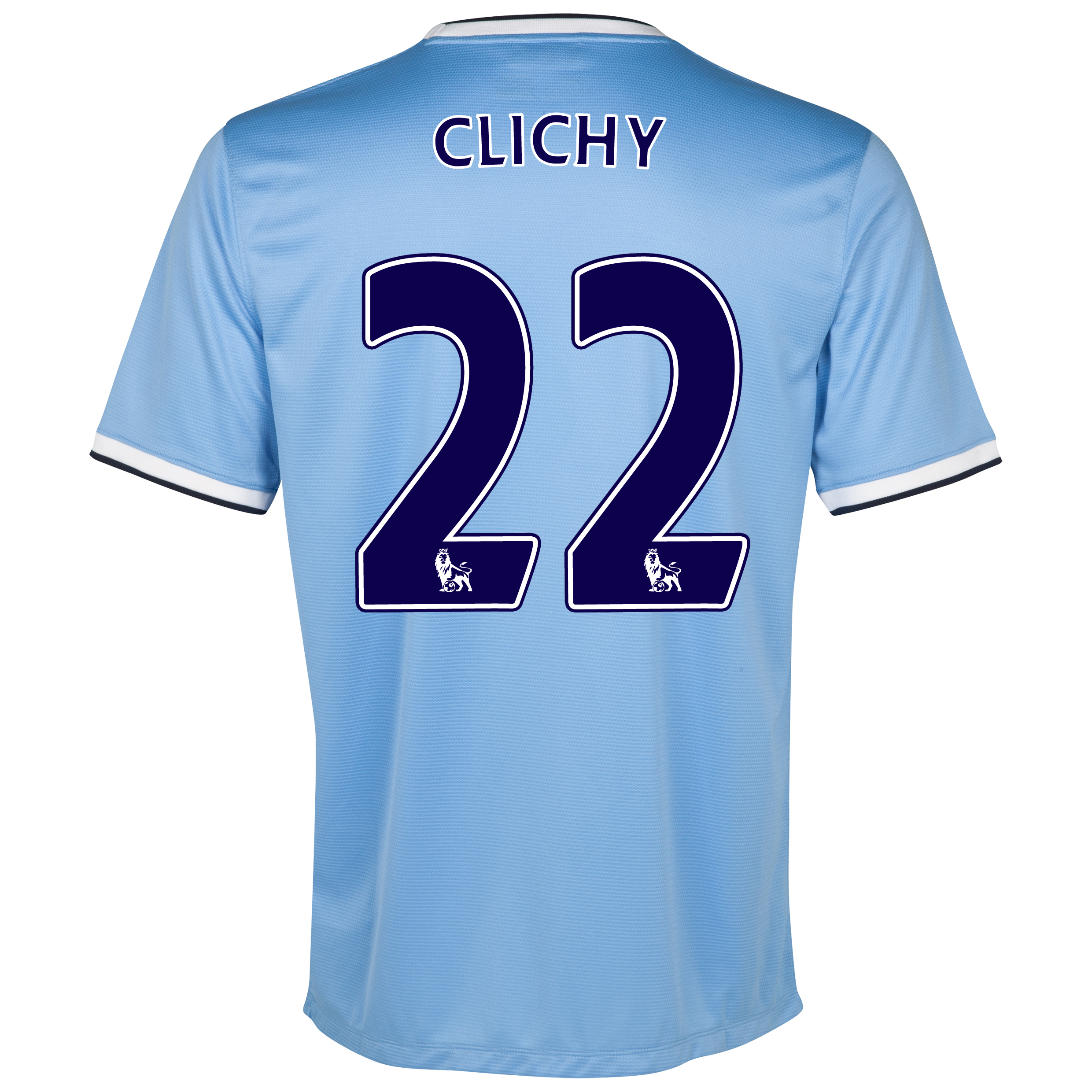Manchester City Home Shirt 2013/14 - Junior with Clichy 22 printing