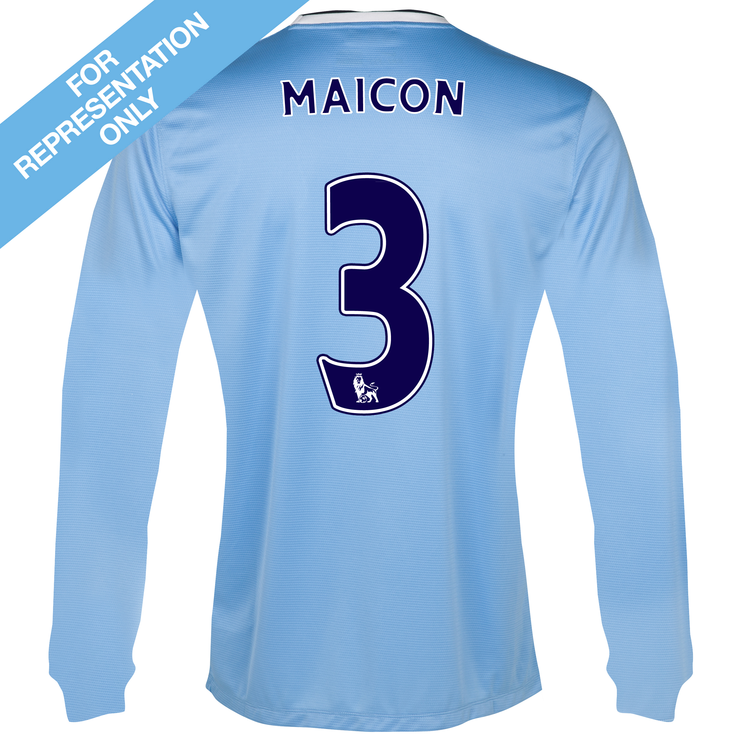 Manchester City Home Shirt 2013/14 - Long Sleeved - Junior with Maicon 3 printing
